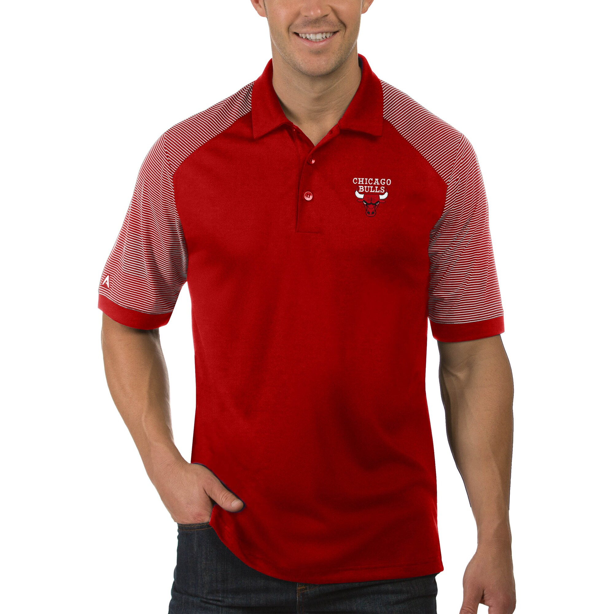Chicago Bulls Antigua Engage Big & Tall Polo - Red