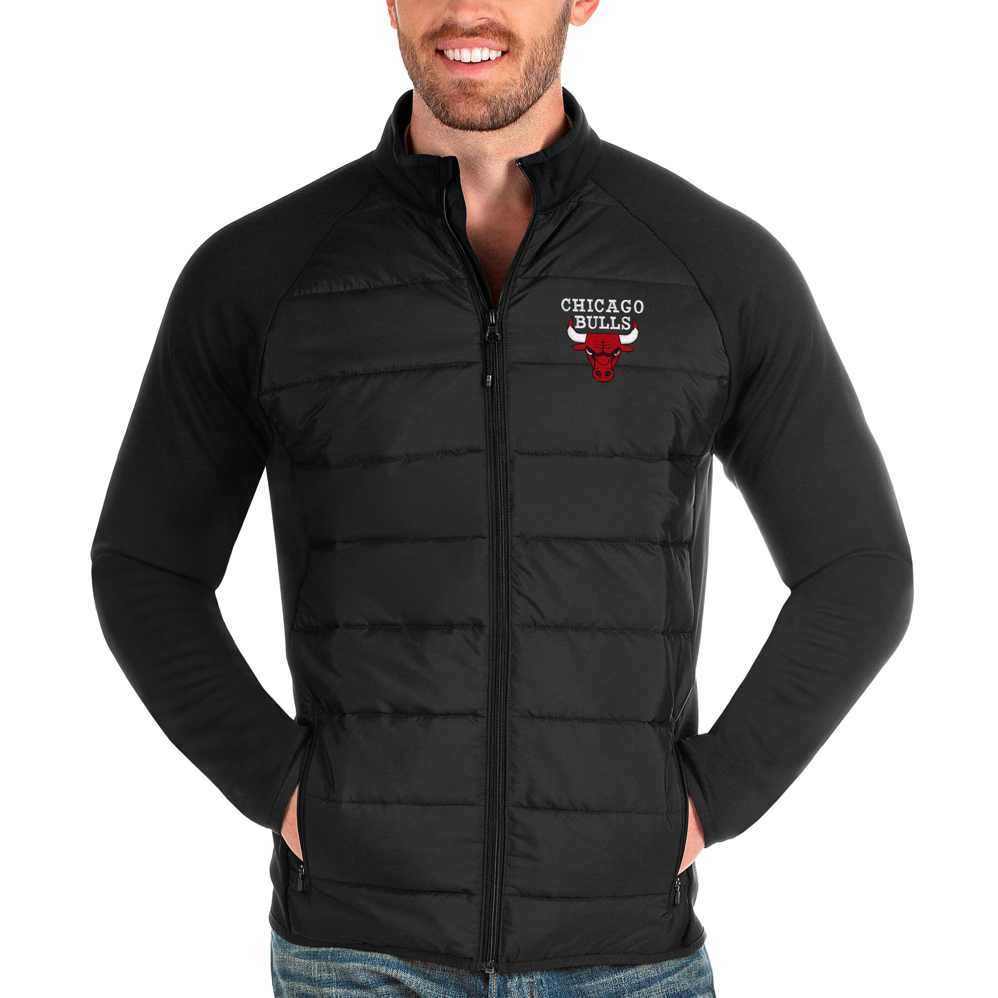 Chicago Bulls Antigua Altitude Full-Zip Jacket - Black
