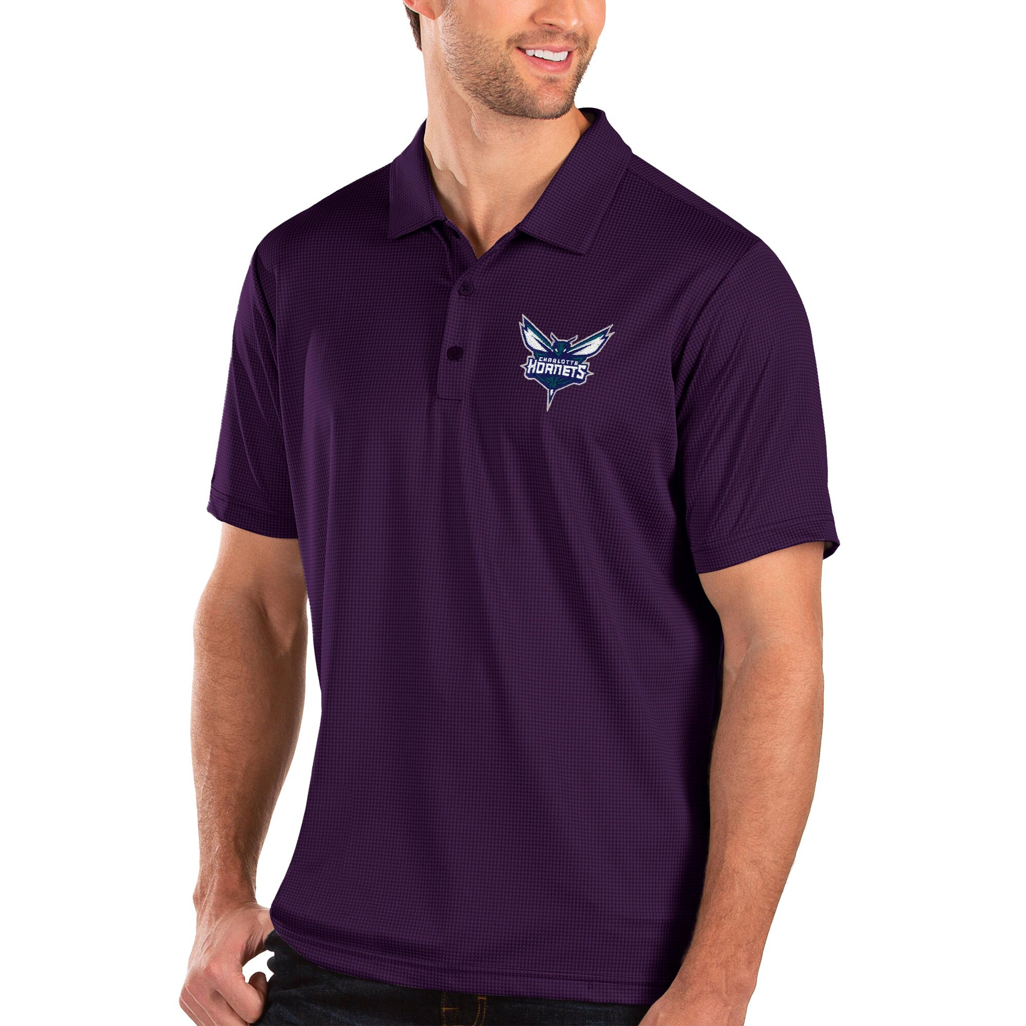 Charlotte Hornets Antigua Balance Polo - Purple