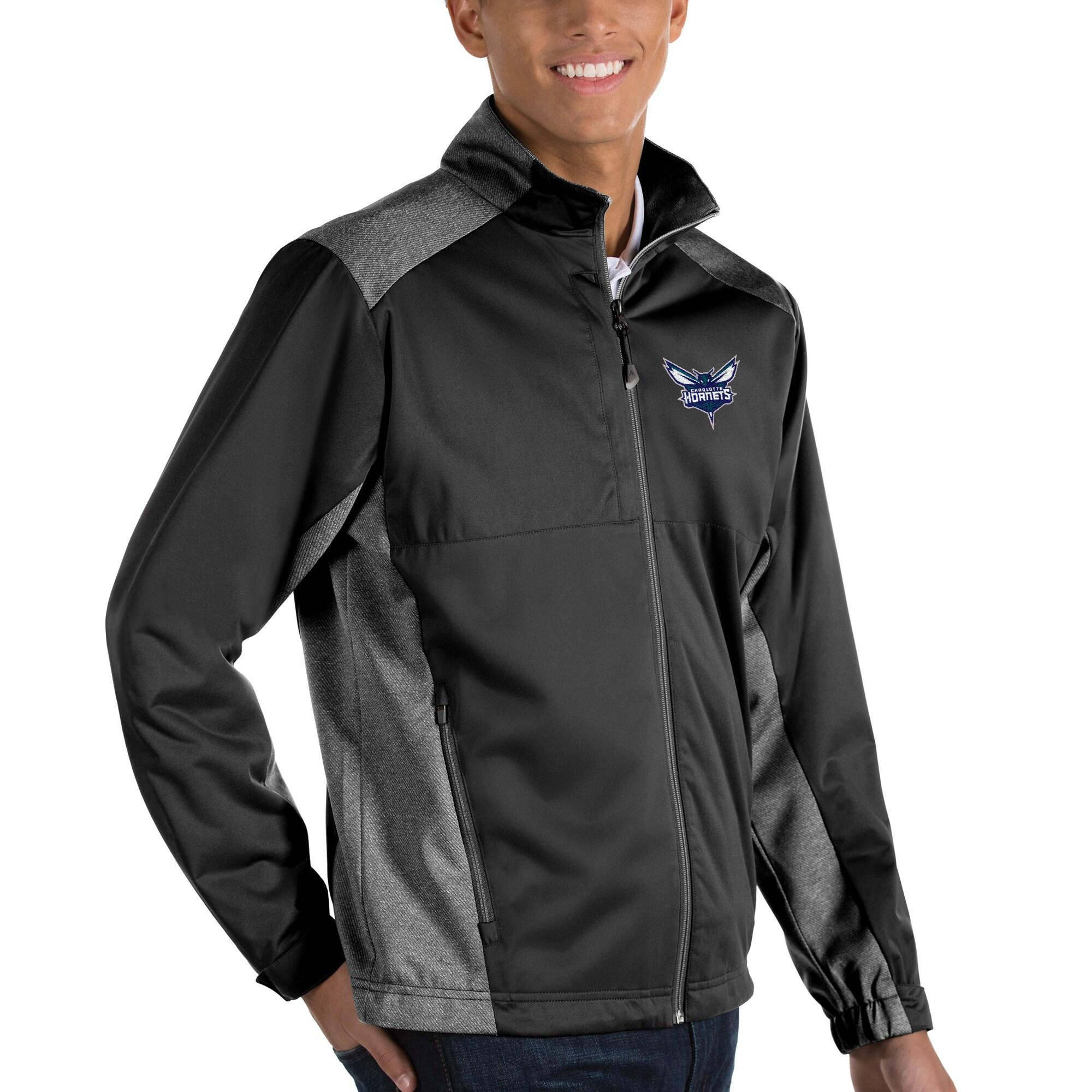 Charlotte Hornets Antigua Revolve Full-Zip Jacket - Black