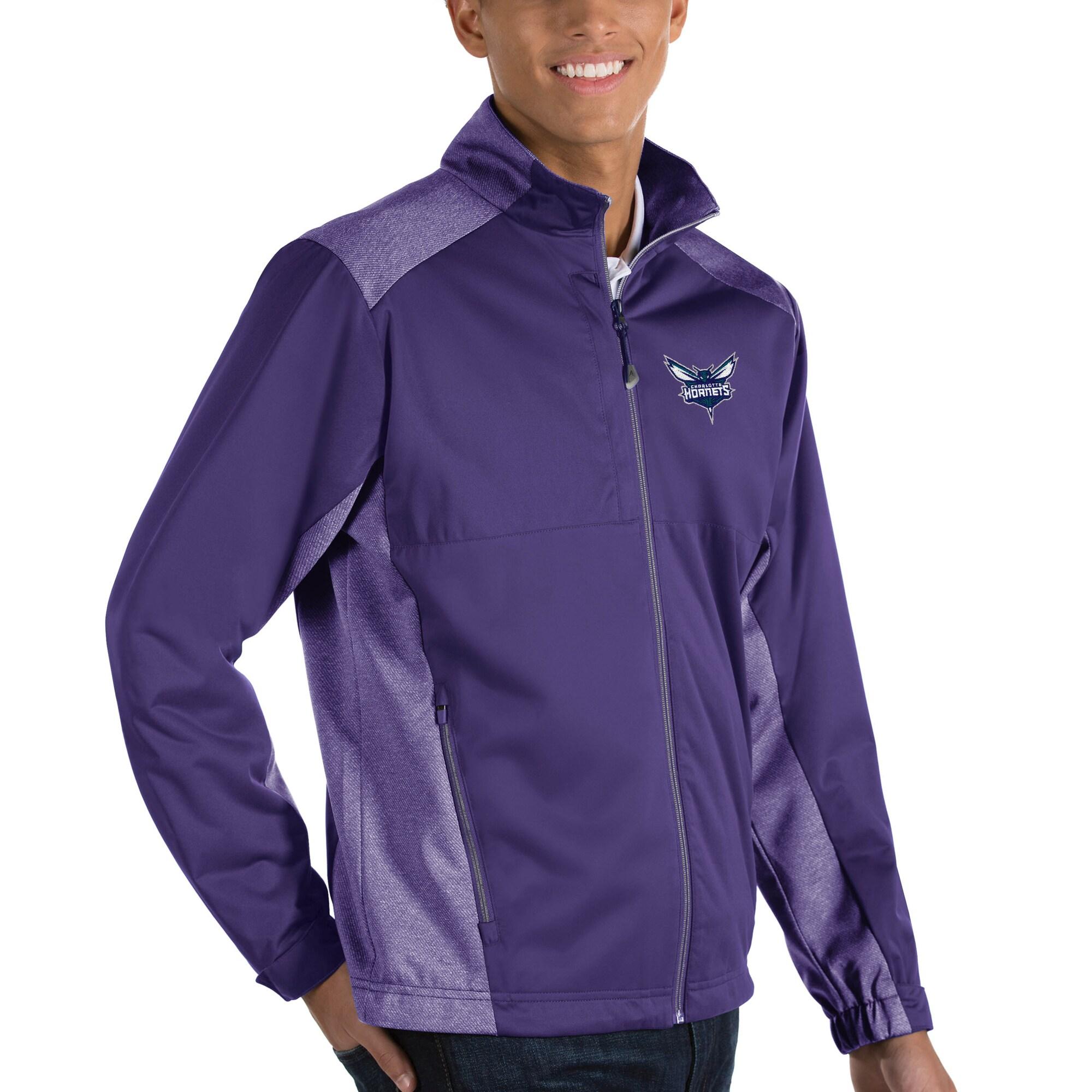 Charlotte Hornets Antigua Revolve Full-Zip Jacket - Purple