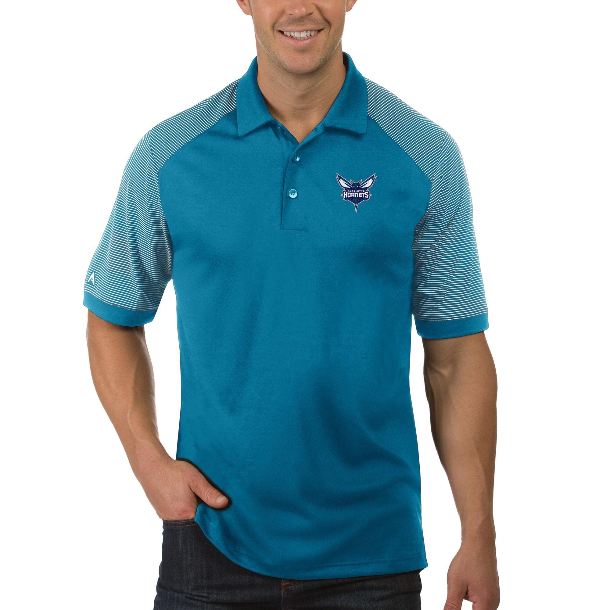 Charlotte Hornets Antigua Engage Polo - Teal