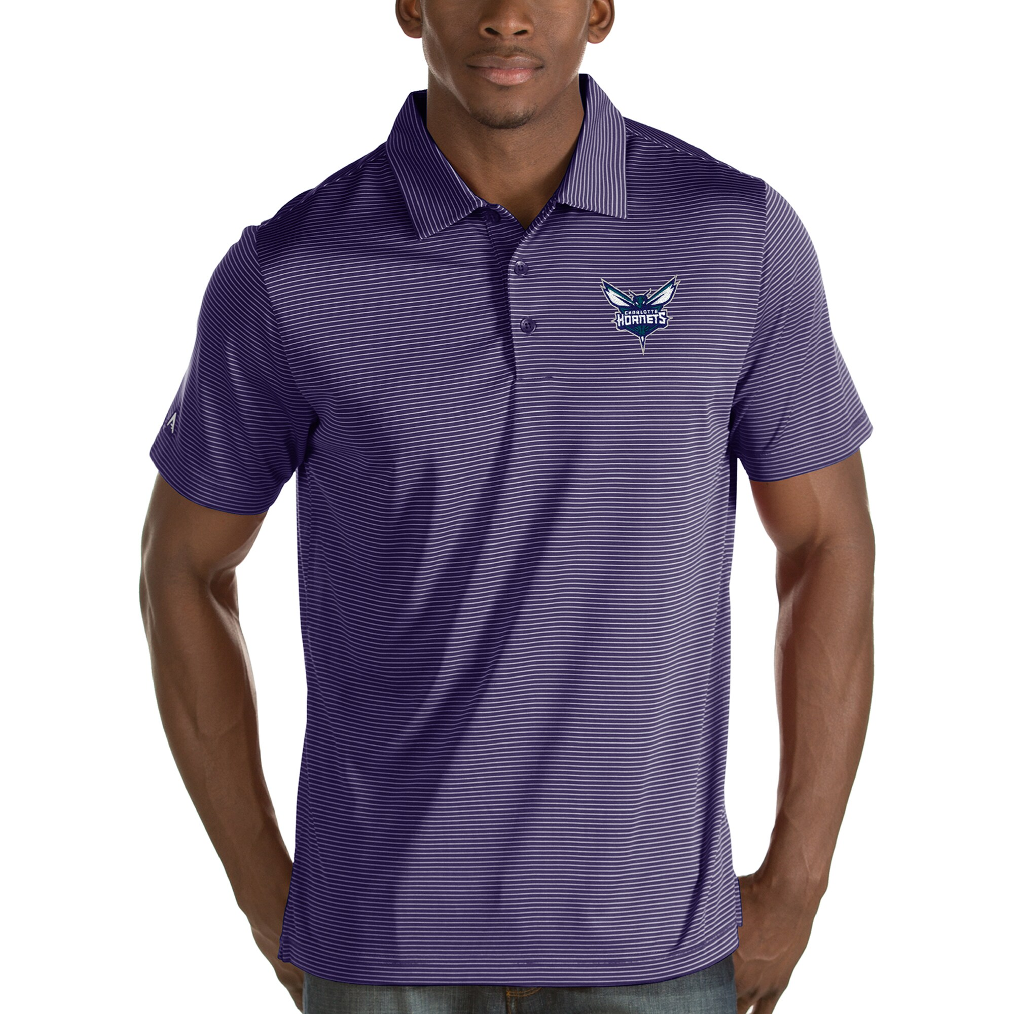 Charlotte Hornets Antigua Quest Polo - Purple