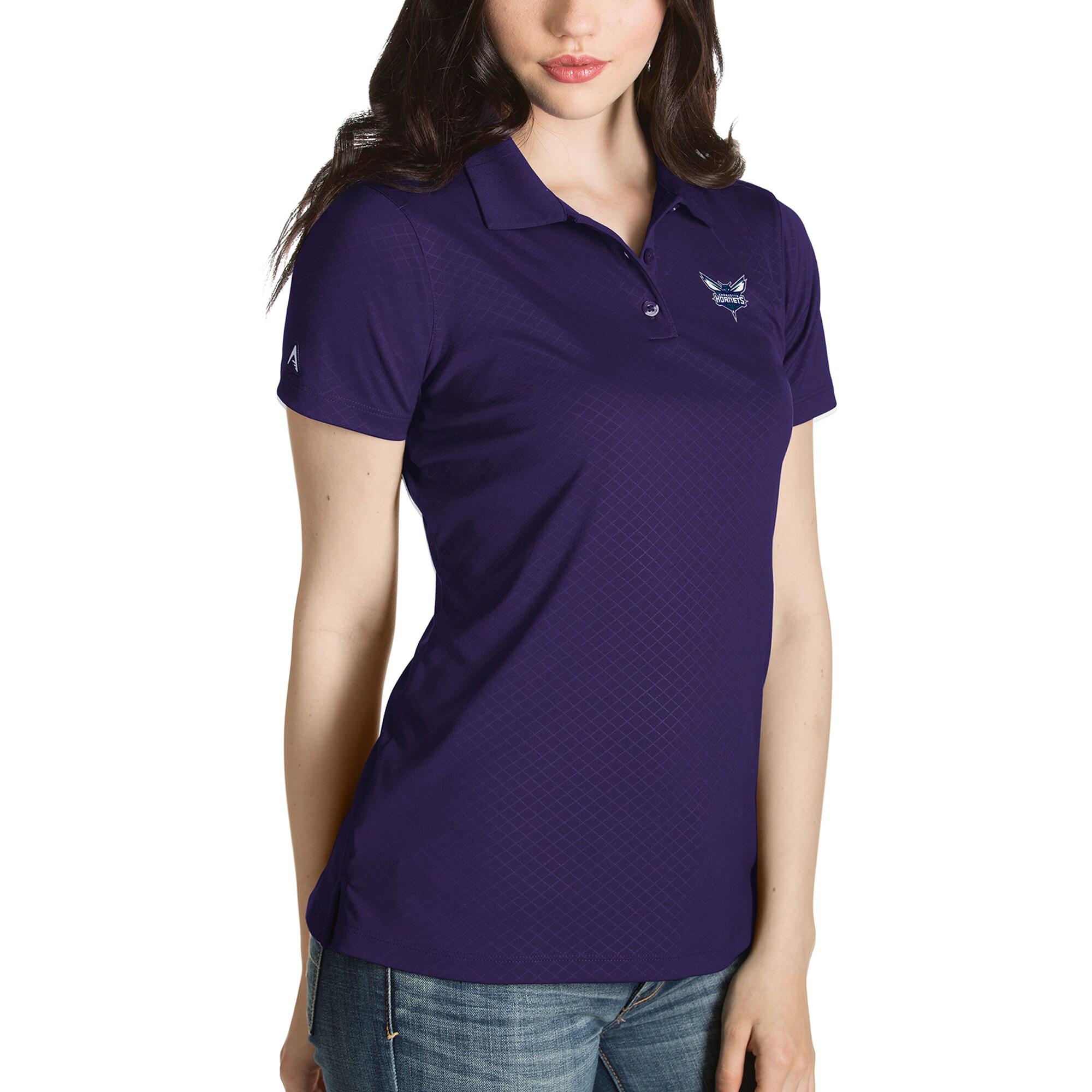 Charlotte Hornets Antigua Women's Inspire Polo - Purple
