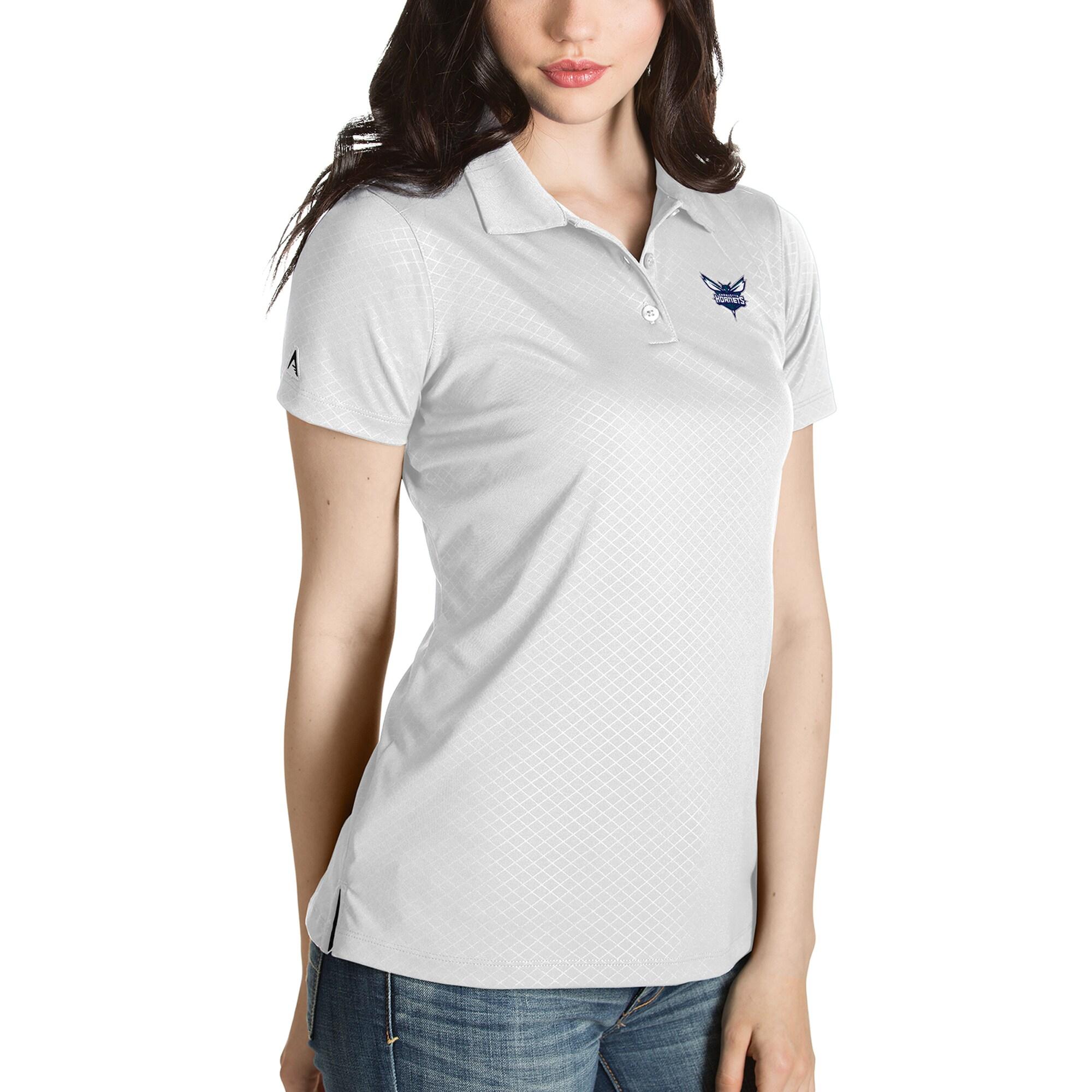 Charlotte Hornets Antigua Women's Inspire Polo - White