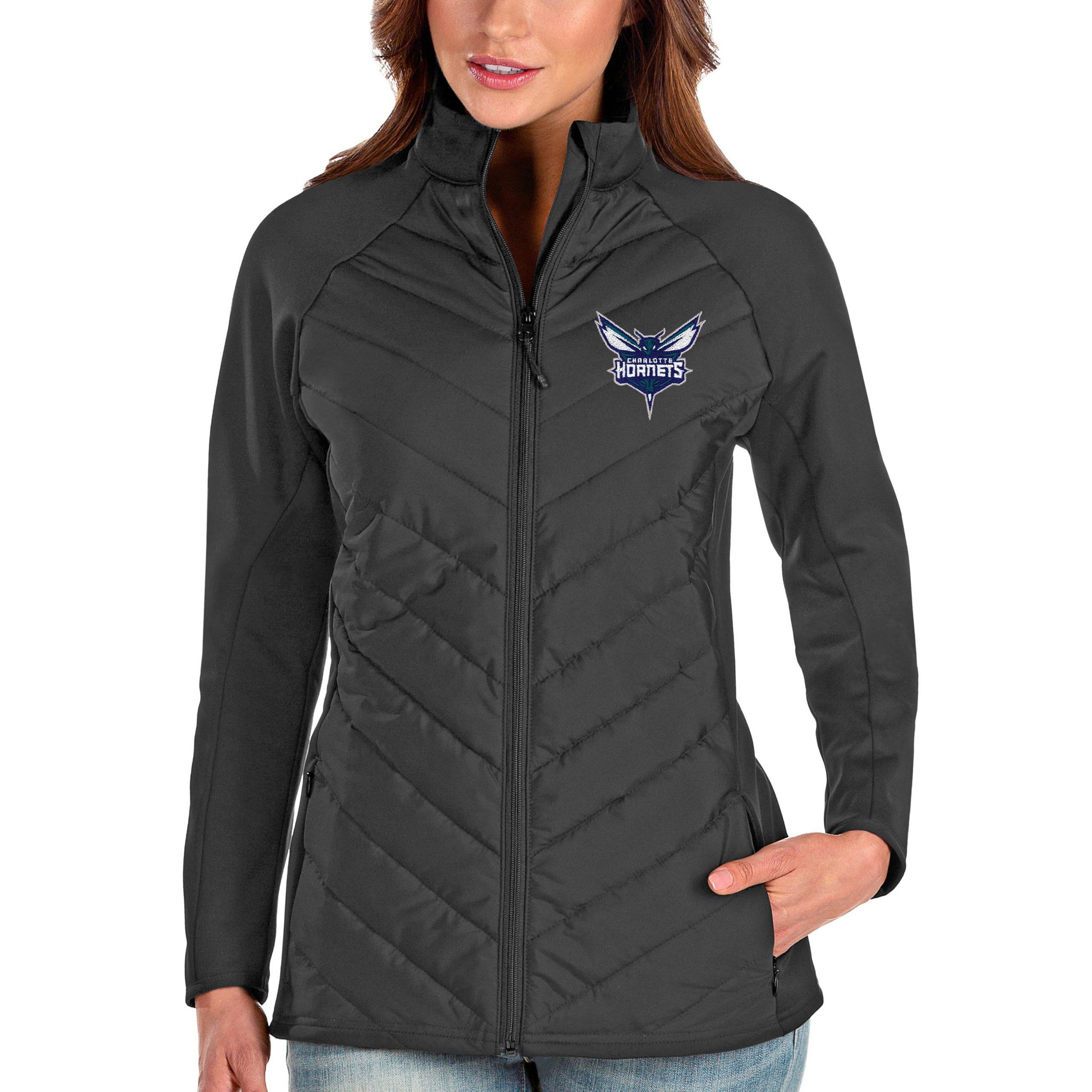 Charlotte Hornets Antigua Women's Altitude Full-Zip Jacket - Charcoal