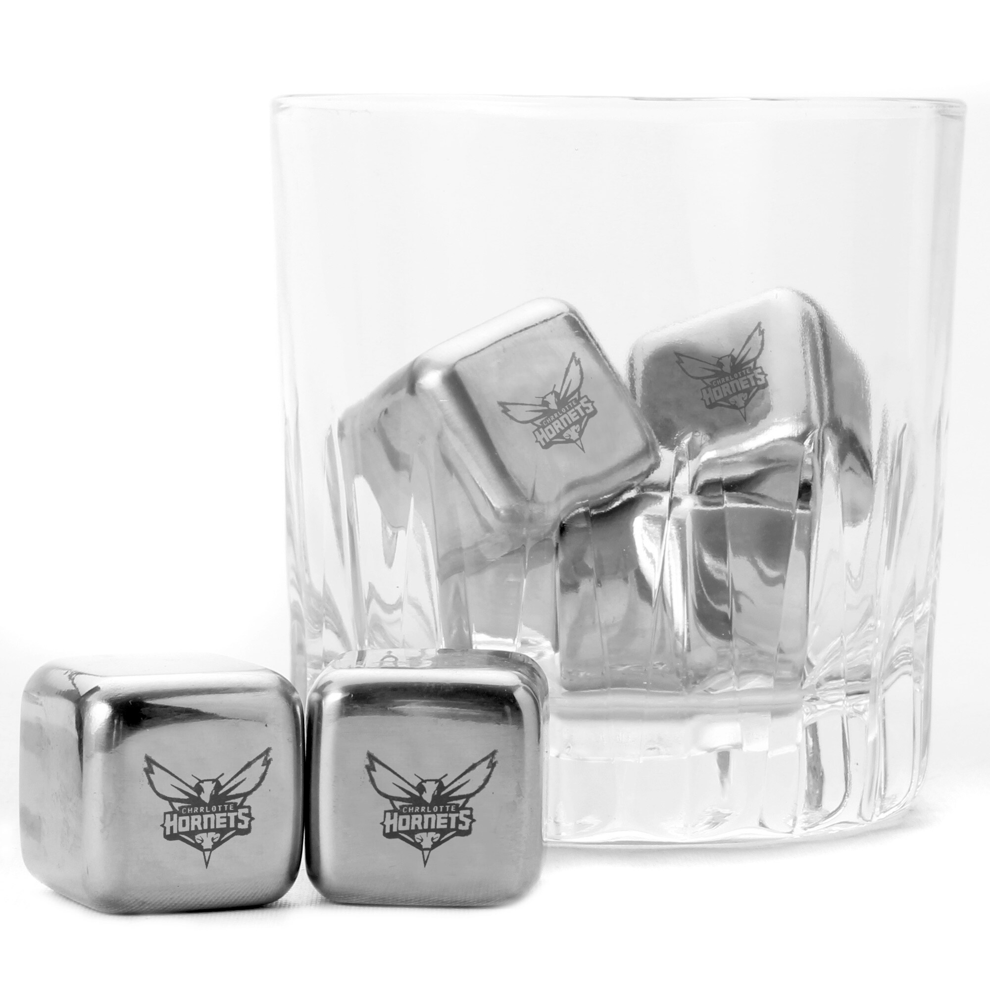 Charlotte Hornets Steel Cube Set of 6