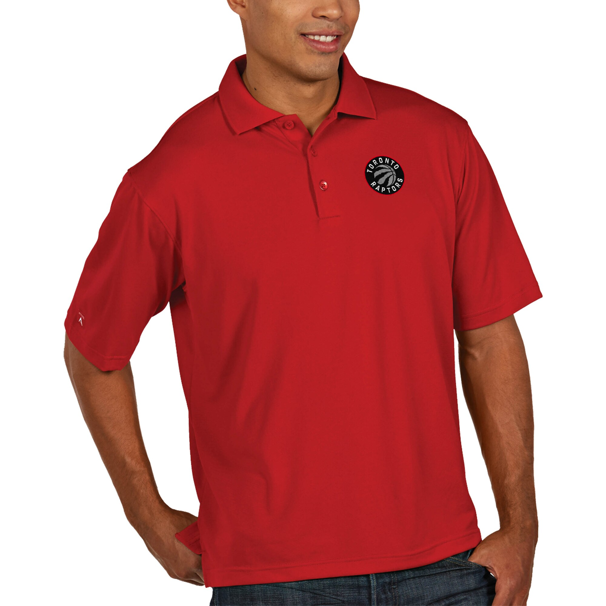 Toronto Raptors Antigua Pique Xtra Lite Big & Tall Polo - Red