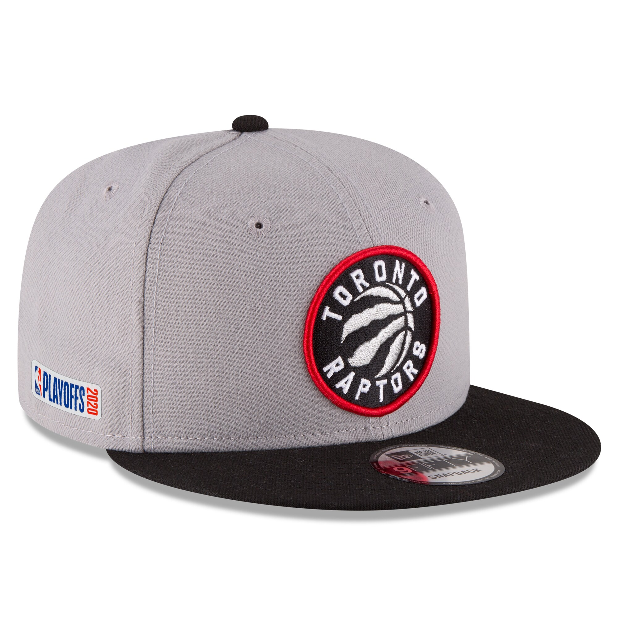 Toronto Raptors New Era 2020 NBA Playoffs Bound 2-Tone 9FIFTY Snapback Adjustable Hat - Gray