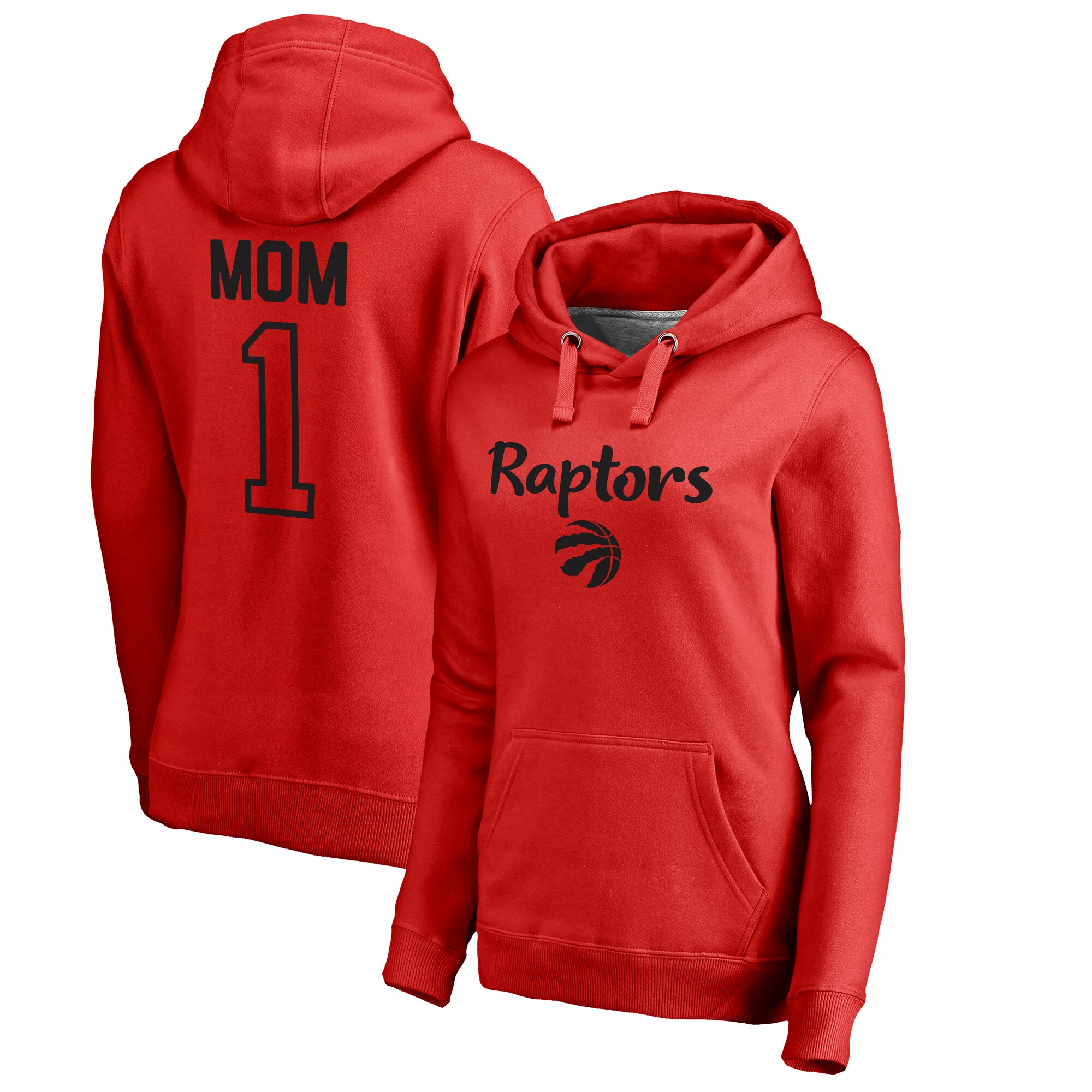 Toronto Raptors Fanatics Branded Women's Number 1 Mom Pullover Hoodie - Red
