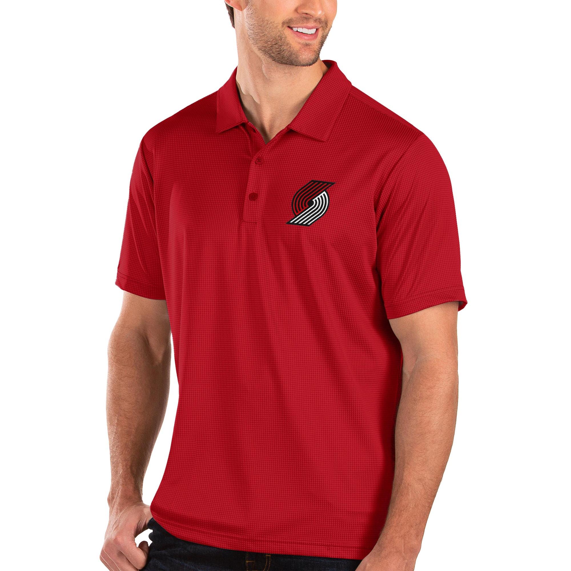 Portland Trail Blazers Antigua Balance Polo - Red