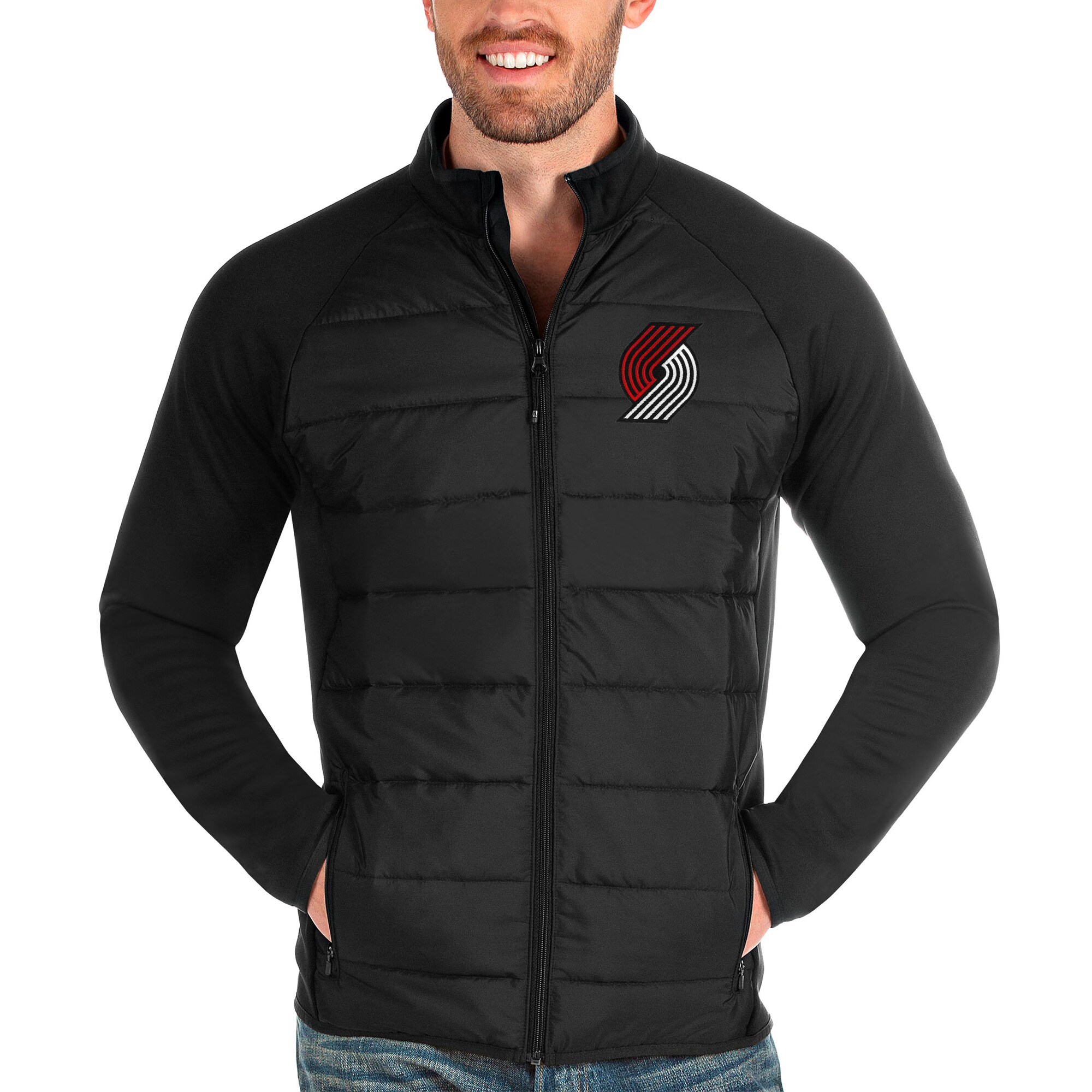Portland Trail Blazers Antigua Altitude Full-Zip Jacket - Black