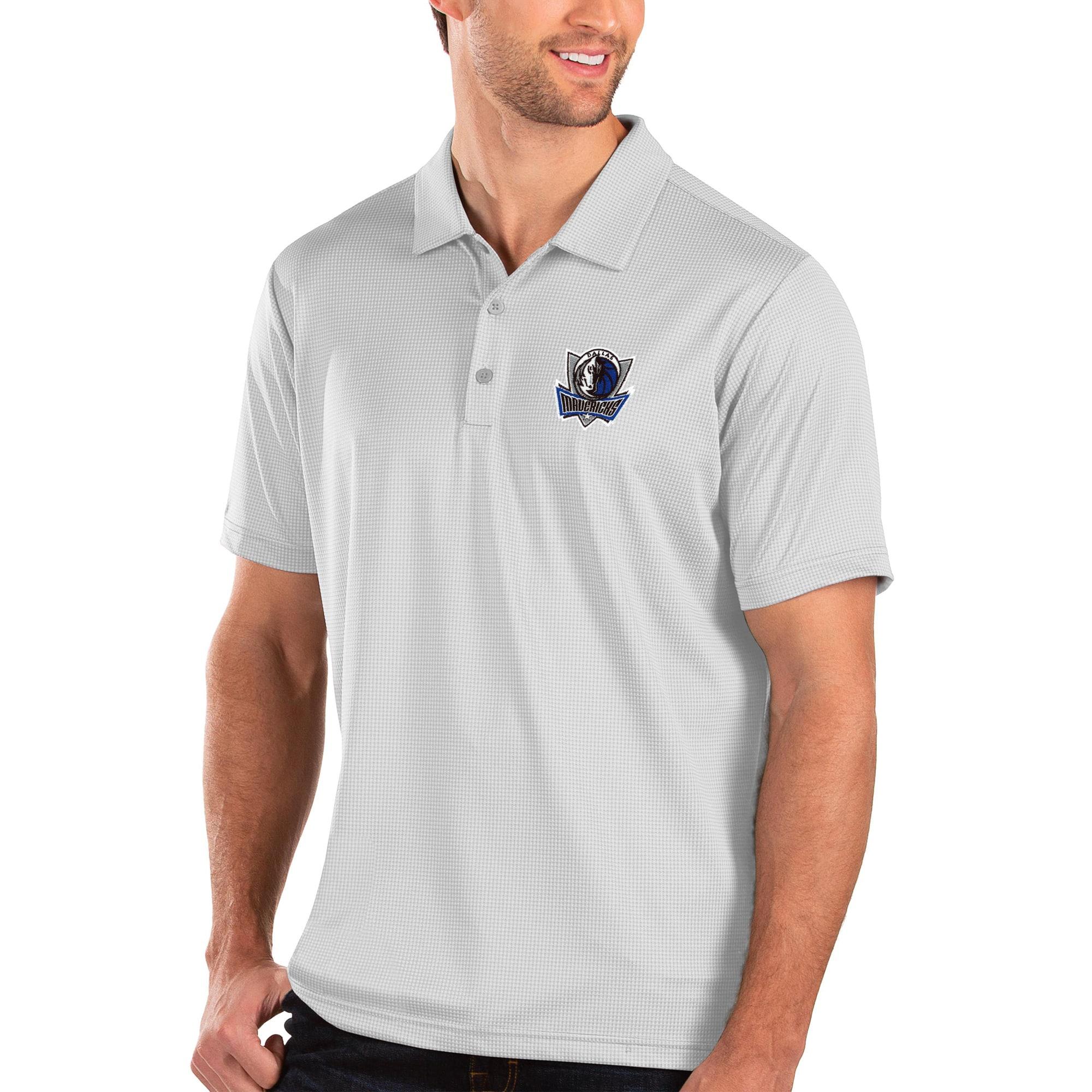 Dallas Mavericks Antigua Balance Polo - White