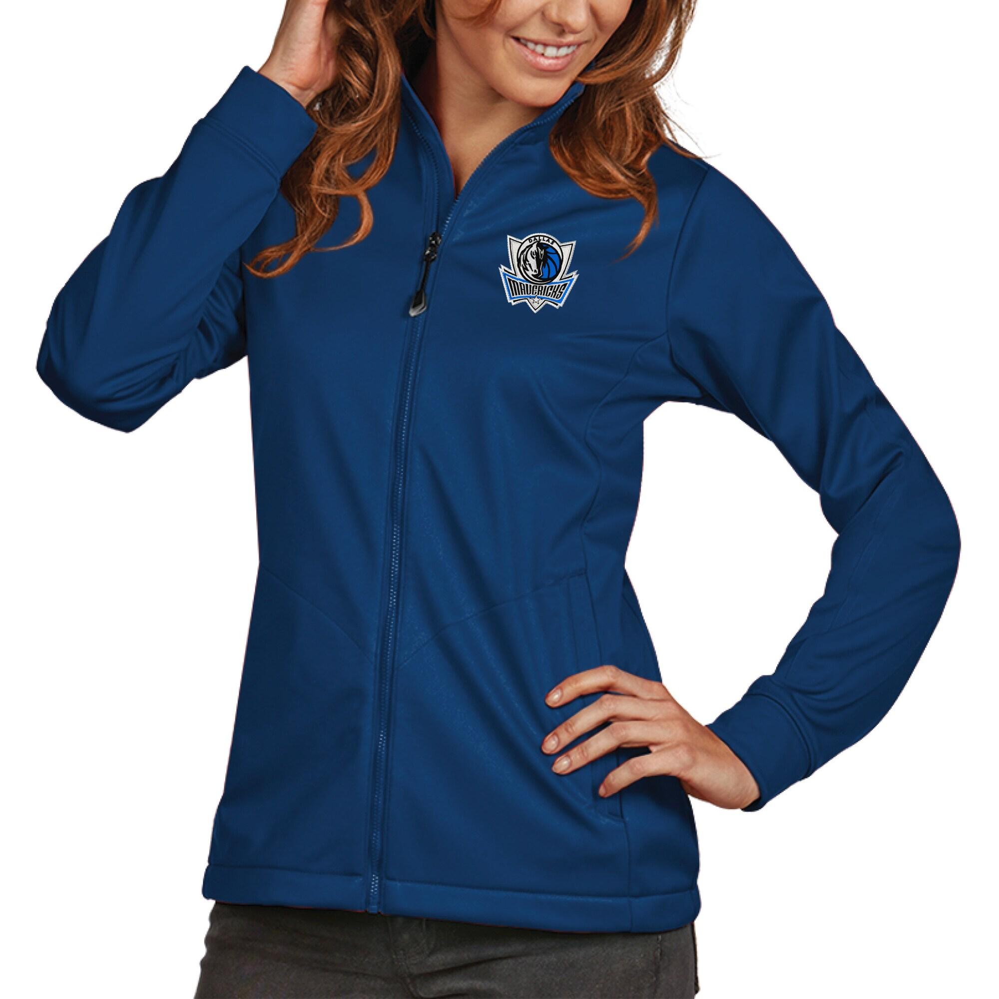 Dallas Mavericks Antigua Women's Golf Full-Zip Jacket - Royal