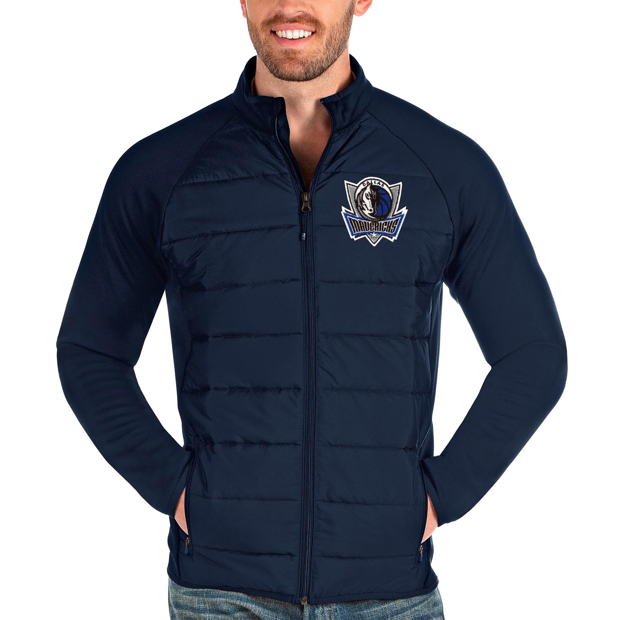 Dallas Mavericks Antigua Altitude Full-Zip Jacket - Navy