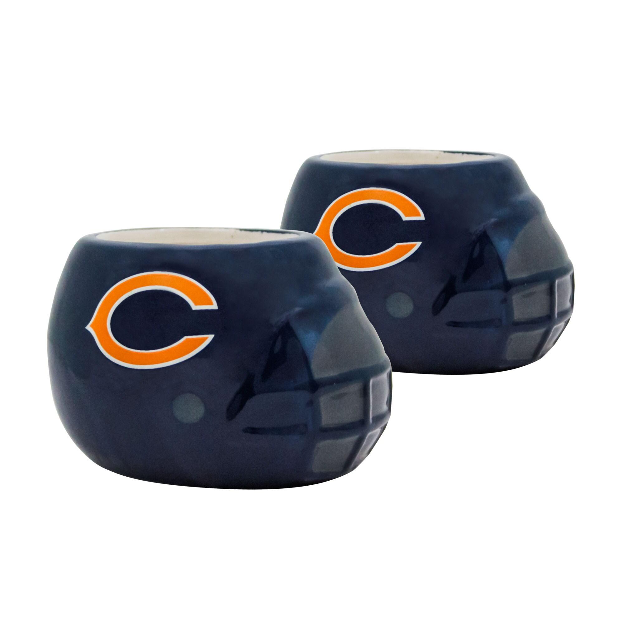 Chicago Bears 2-Piece Ceramic Helmet Planter Set