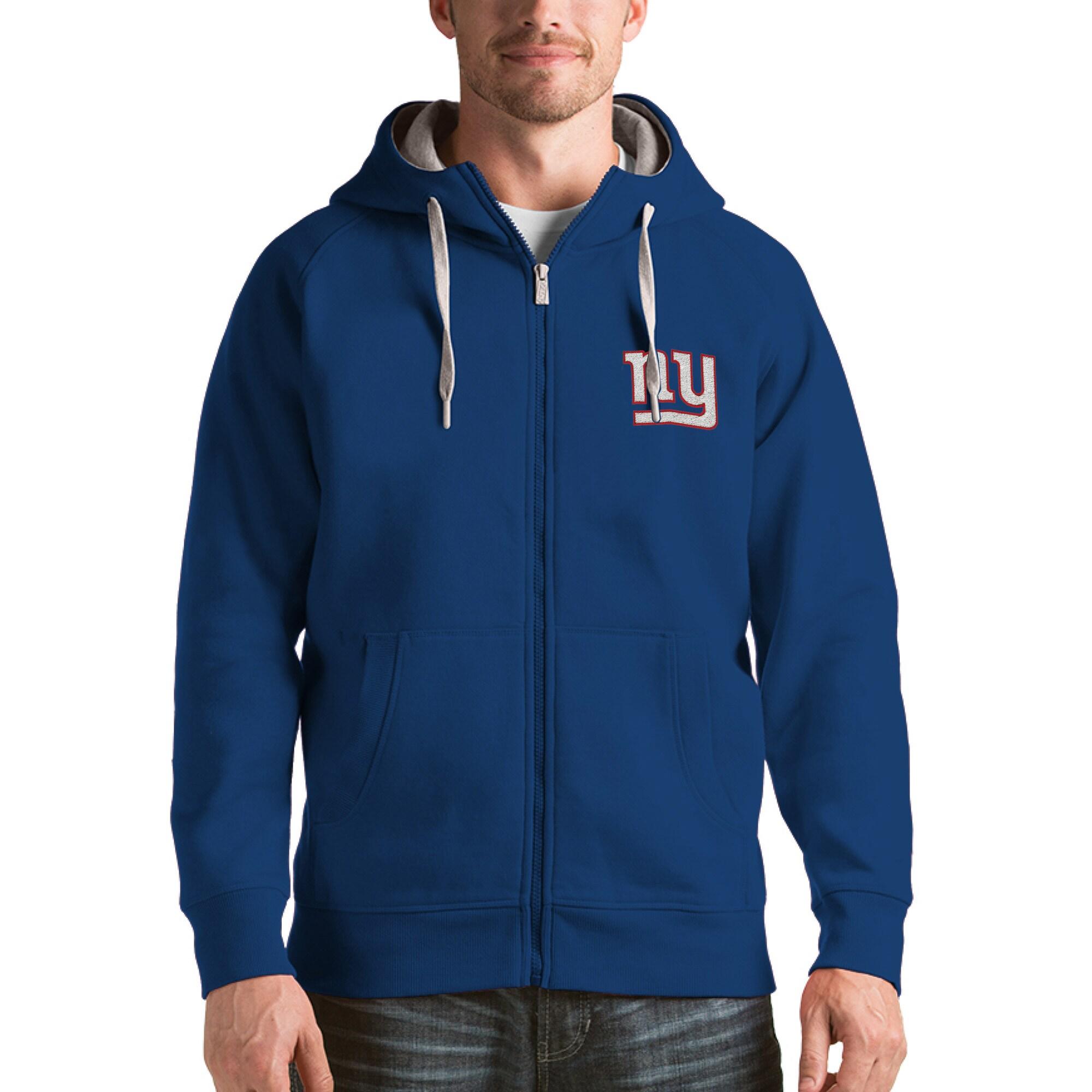 New York Giants Antigua Victory Full-Zip Hoodie - Royal