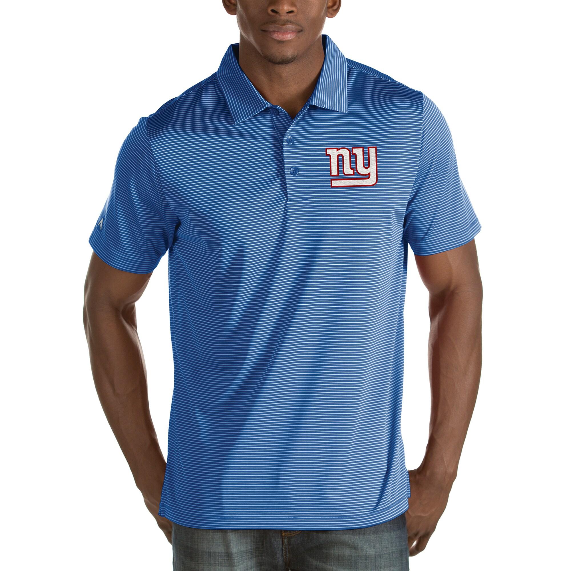 New York Giants Antigua Quest Stripe Polo - Royal