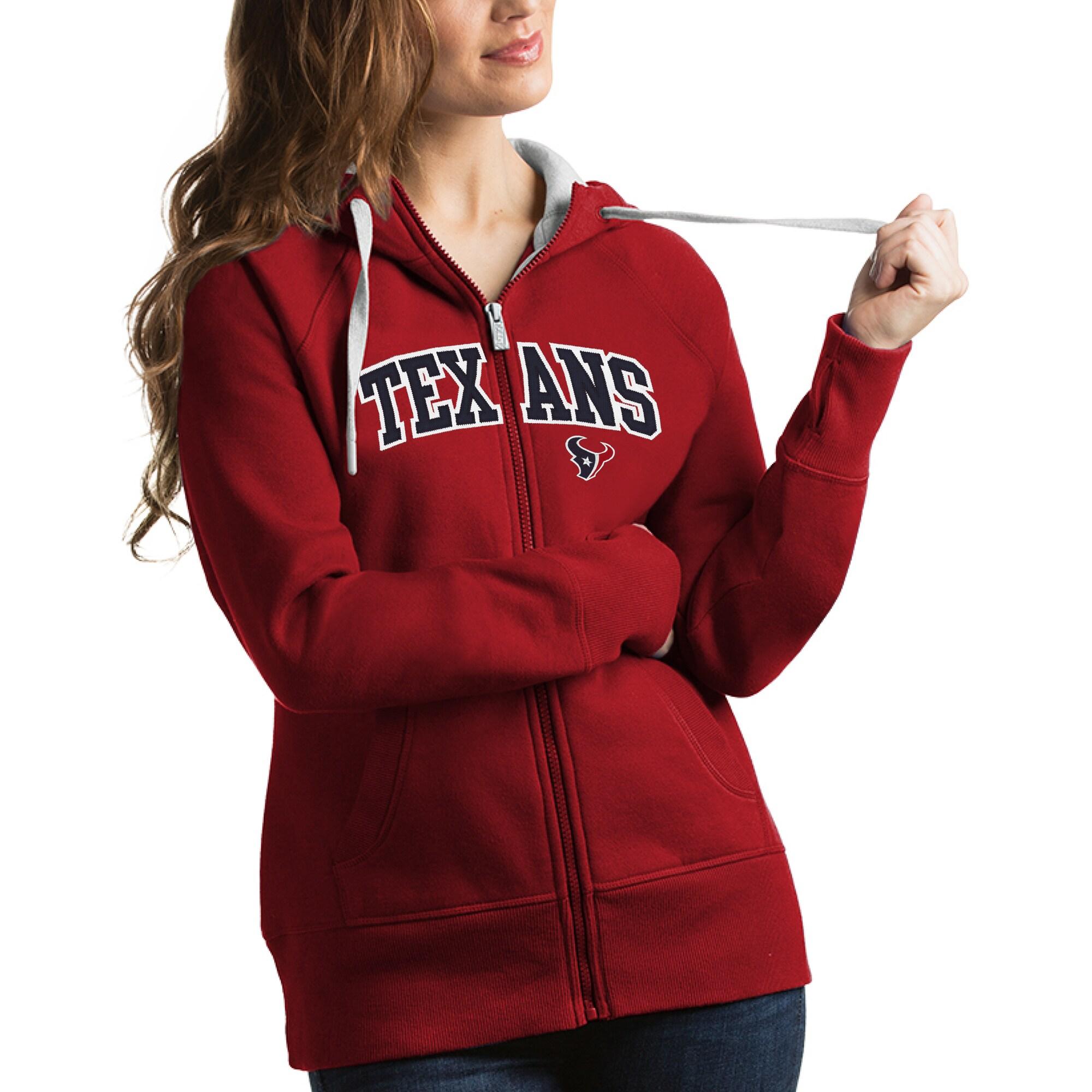 Houston Texans Antigua Women's Victory Full-Zip Hoodie - Red