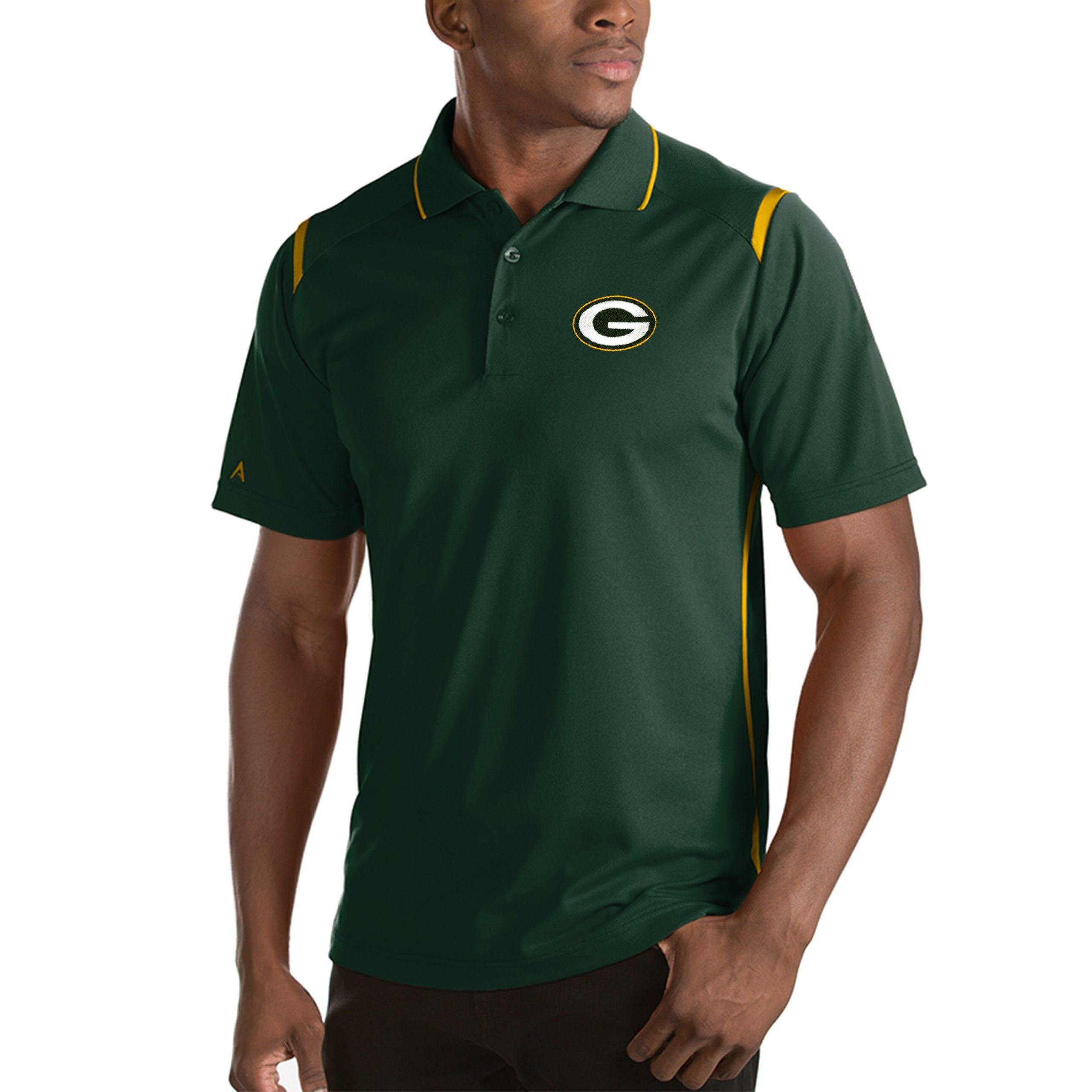 Green Bay Packers Antigua Merit Polo - Green