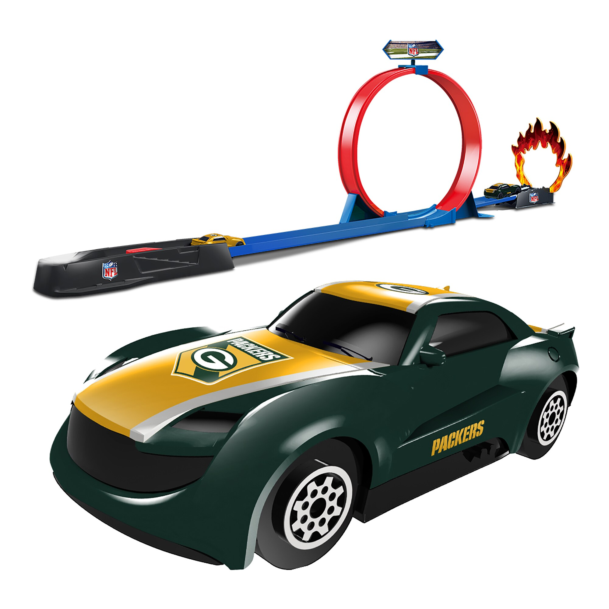 Green Bay Packers Stunt Racer Track Set