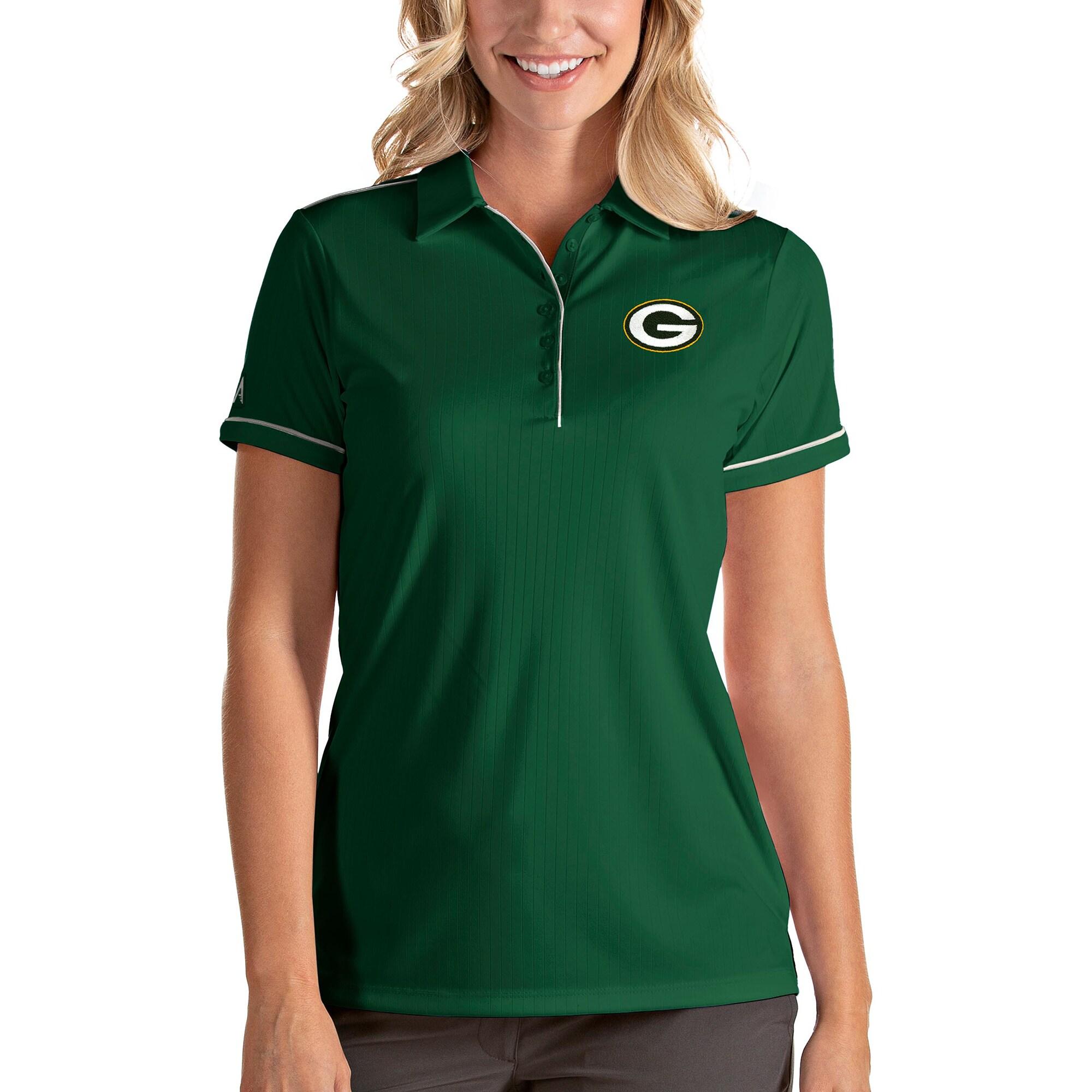 Green Bay Packers Antigua Women's Salute Polo - Green
