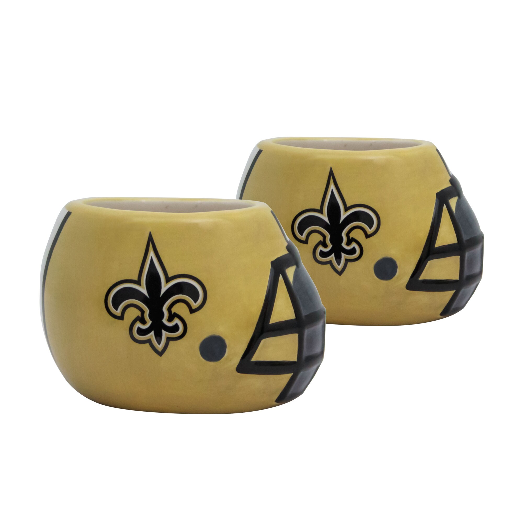 New Orleans Saints 2-Piece Ceramic Helmet Planter Set