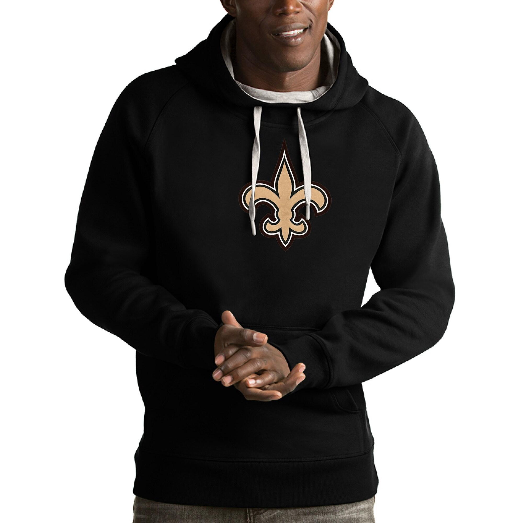 New Orleans Saints Antigua Victory Pullover Hoodie - Black