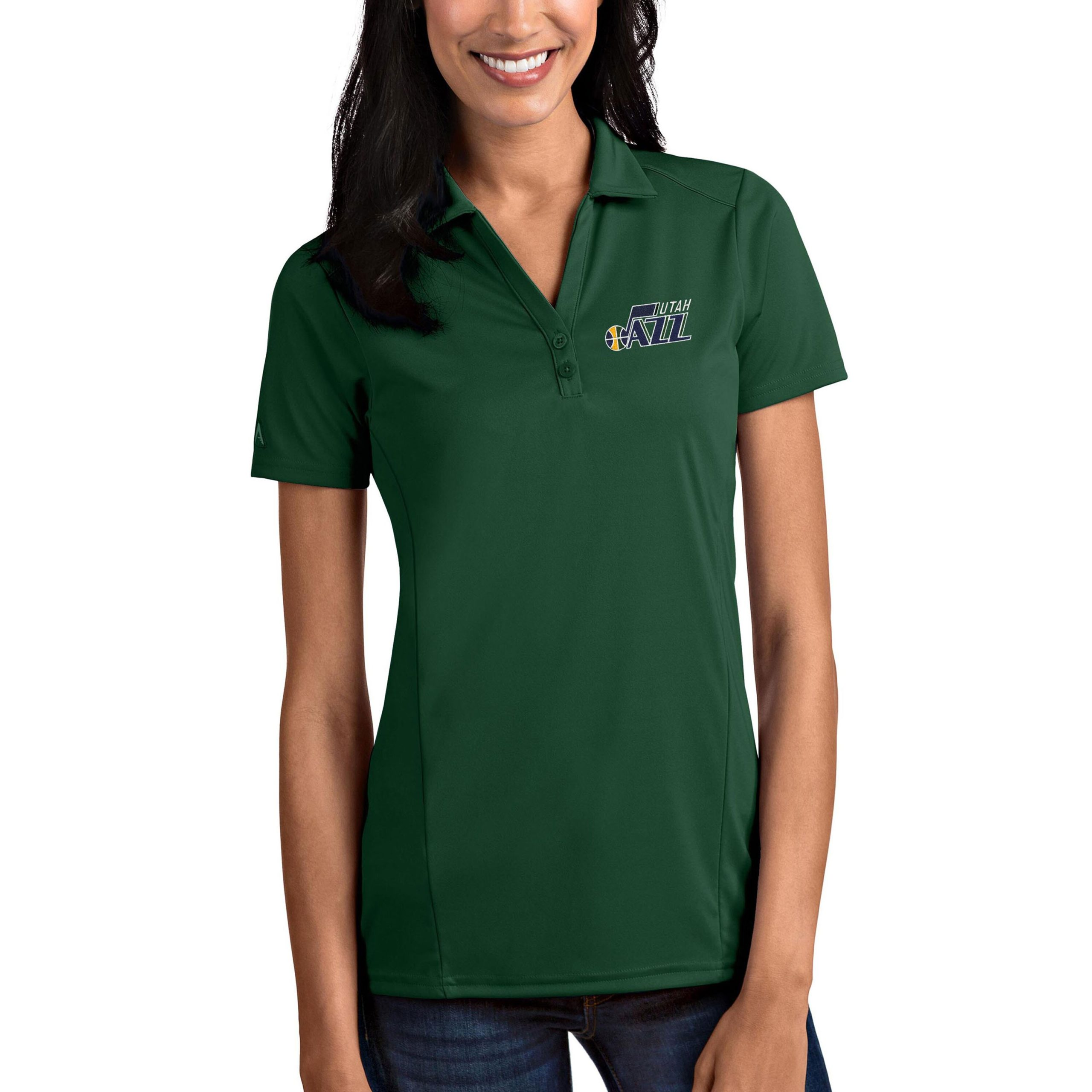 Utah Jazz Antigua Women's Tribute Polo - Green