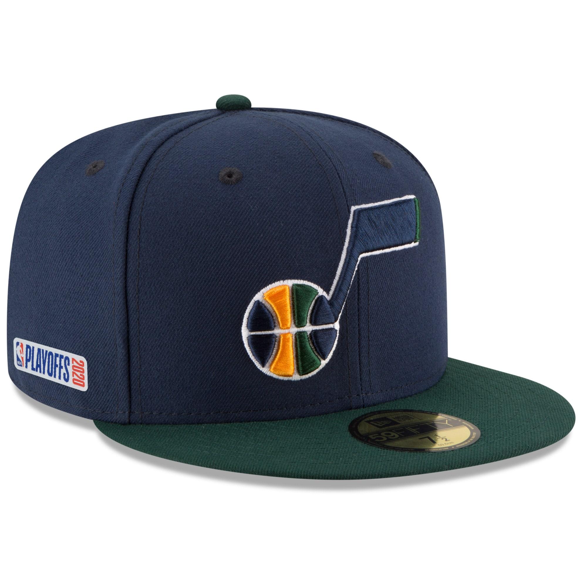 Utah Jazz New Era 2020 NBA Playoffs Bound 2-Tone 59FIFTY Fitted Hat - Navy