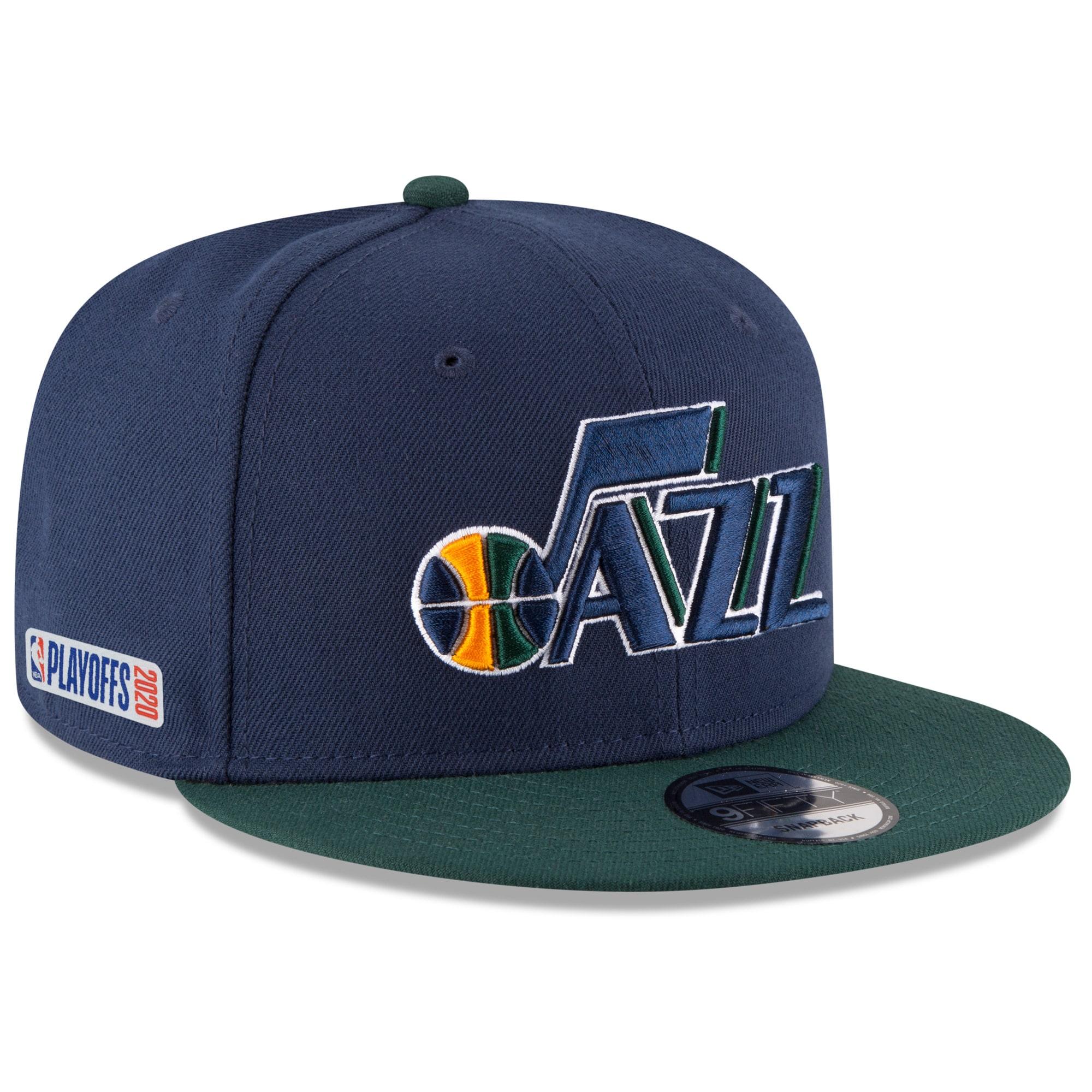 Utah Jazz New Era 2020 NBA Playoffs Bound 2-Tone 9FIFTY Snapback Adjustable Hat - Navy