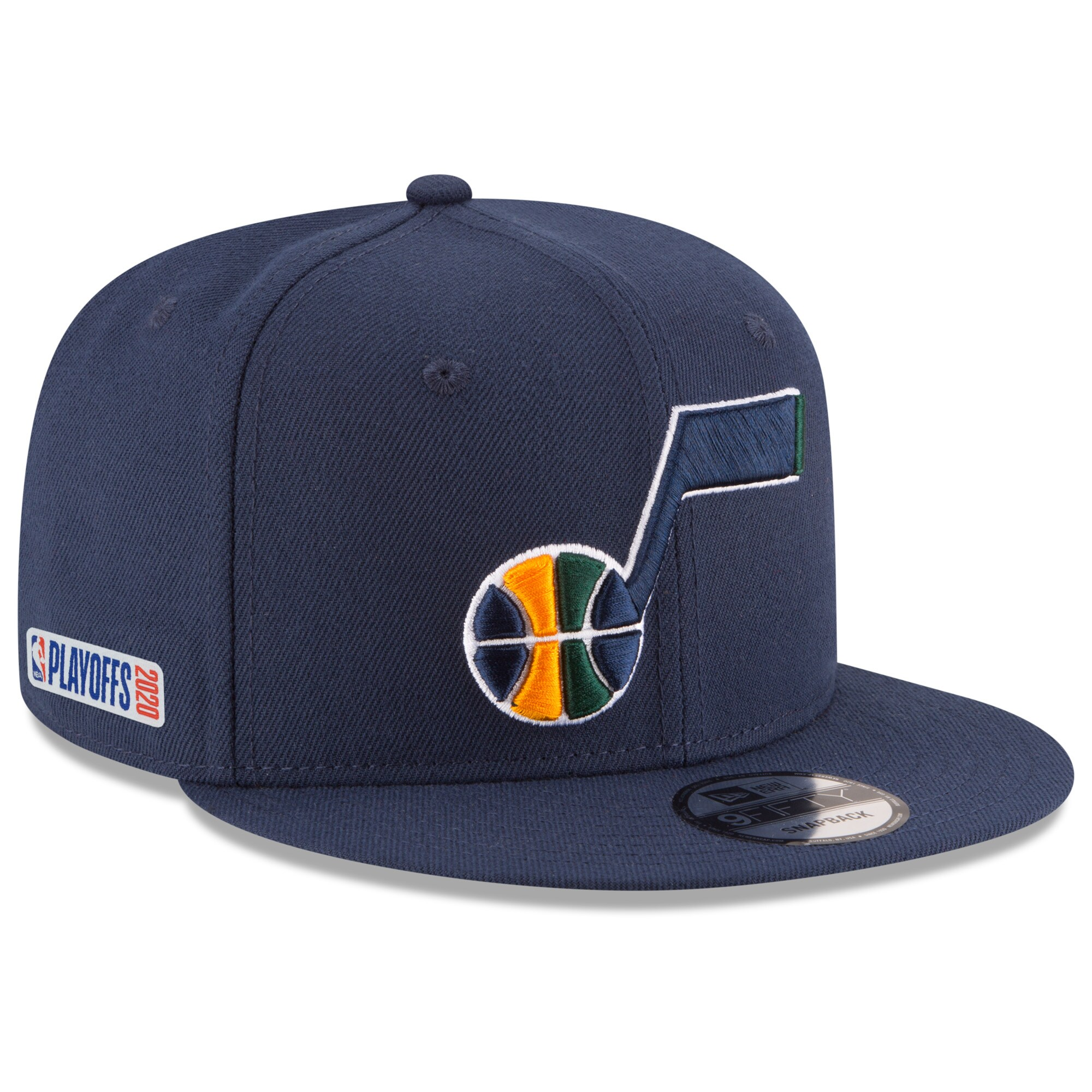 Utah Jazz New Era 2020 NBA Playoffs Bound 9FIFTY Snapback Adjustable Hat - Navy