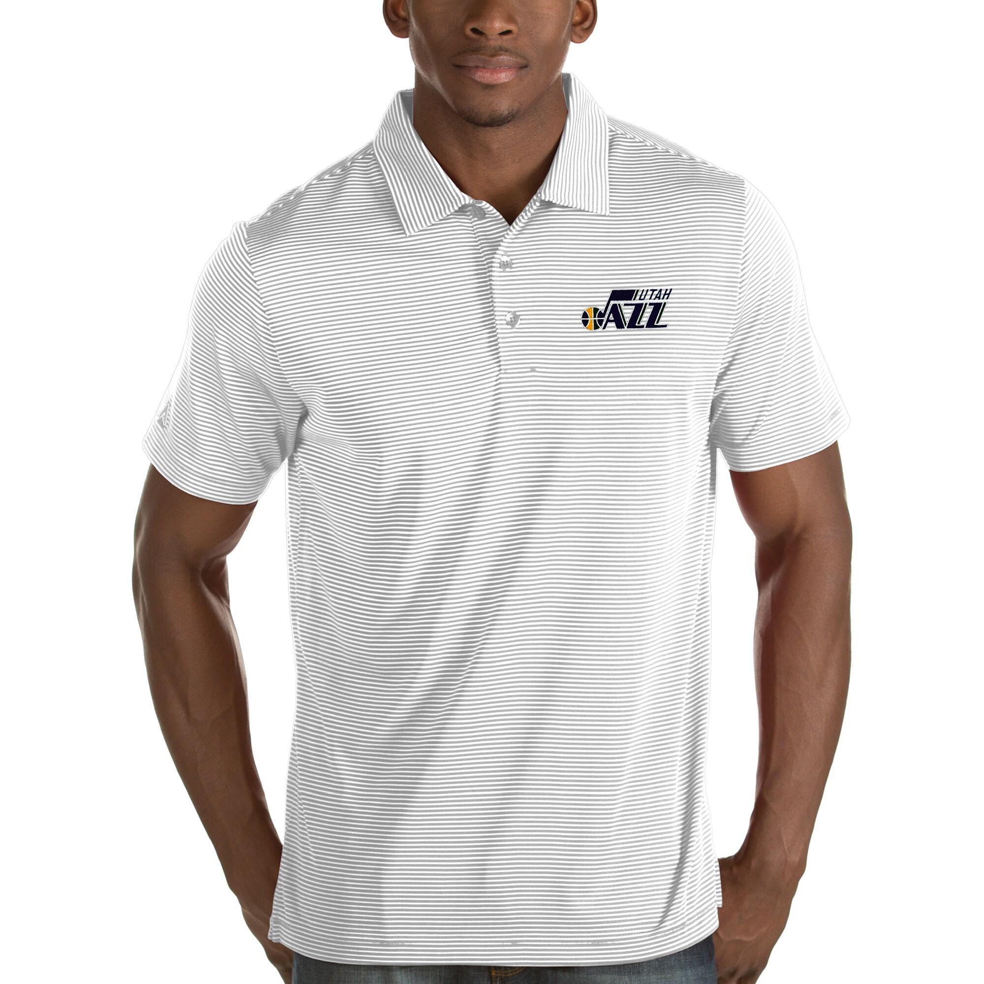 Utah Jazz Antigua Quest Polo - White