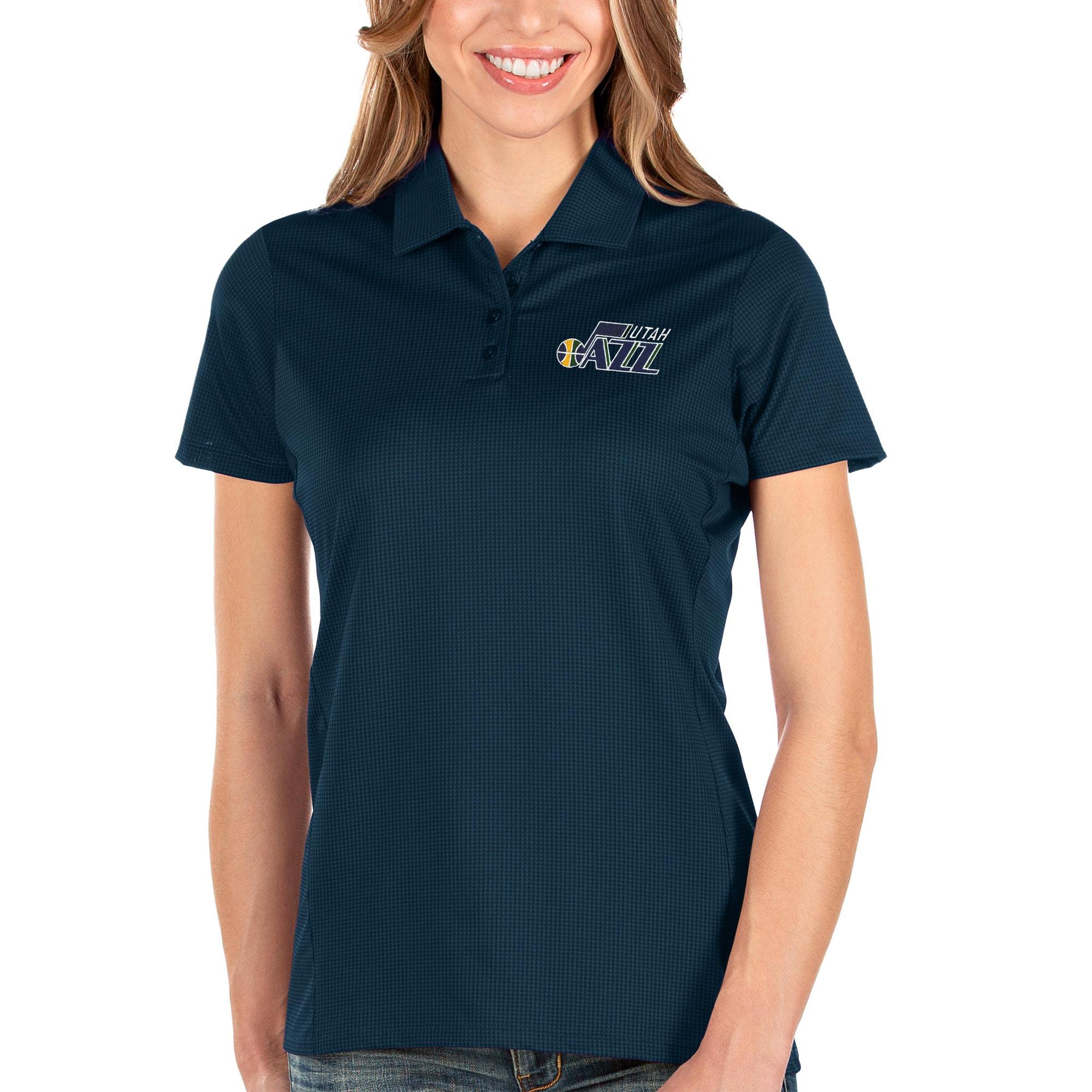 Utah Jazz Antigua Women's Balance Polo - Navy