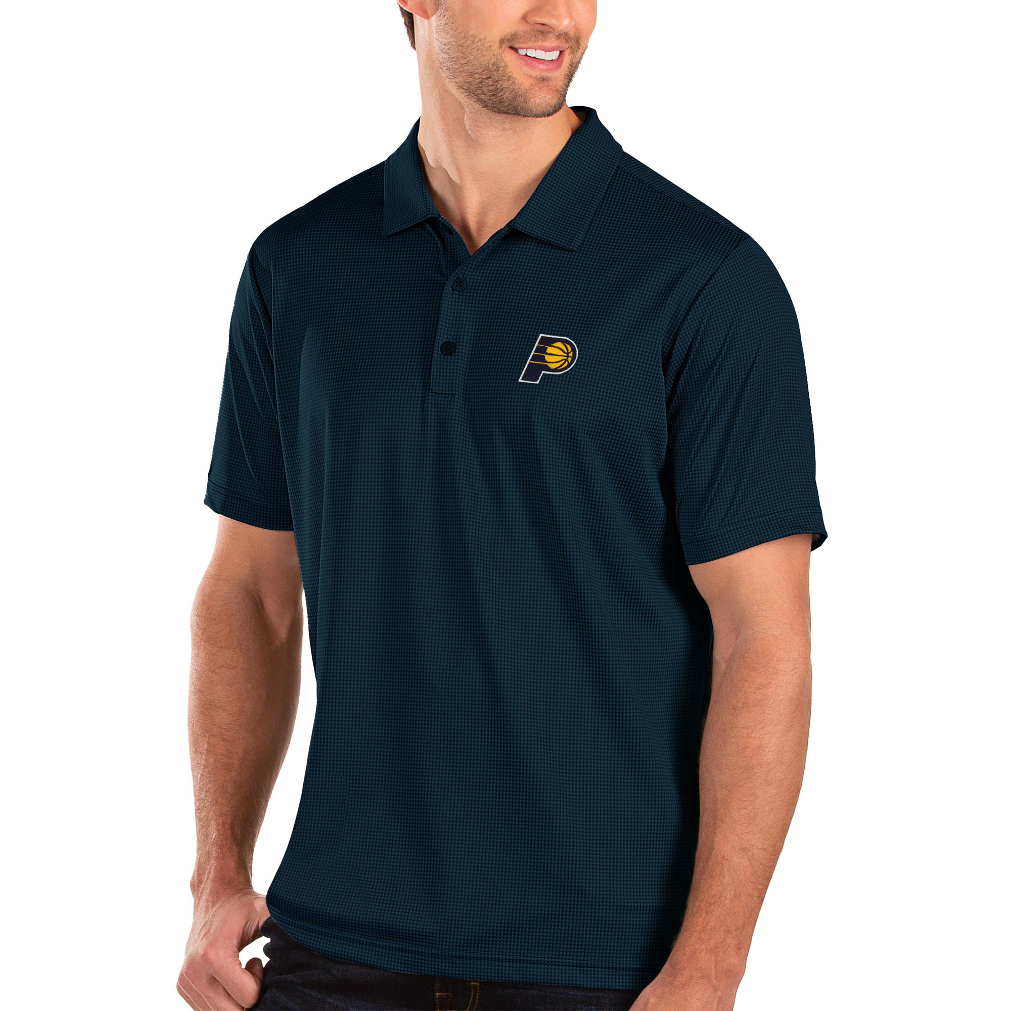 Indiana Pacers Antigua Balance Polo - Navy