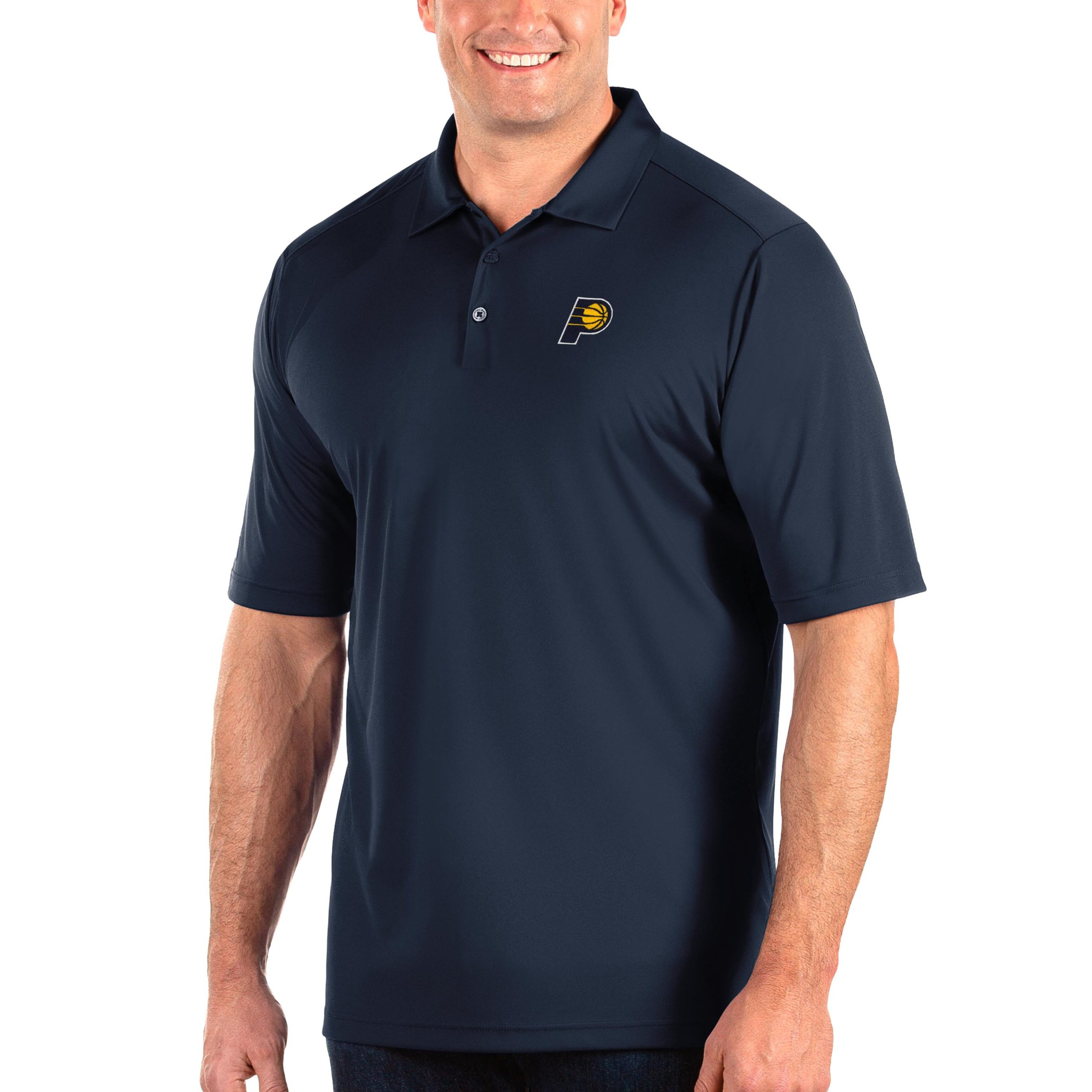 Indiana Pacers Antigua Big & Tall Tribute Polo - Navy