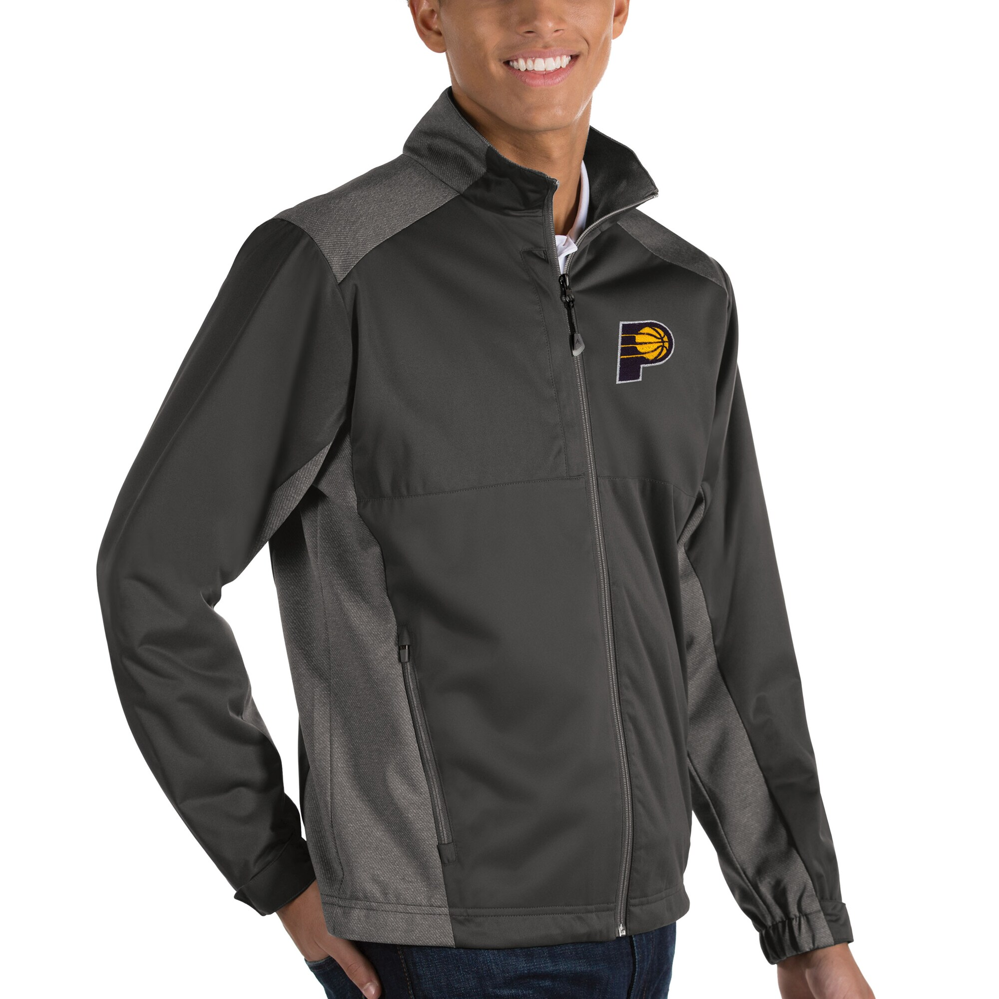 Indiana Pacers Antigua Revolve Full-Zip Jacket - Charcoal