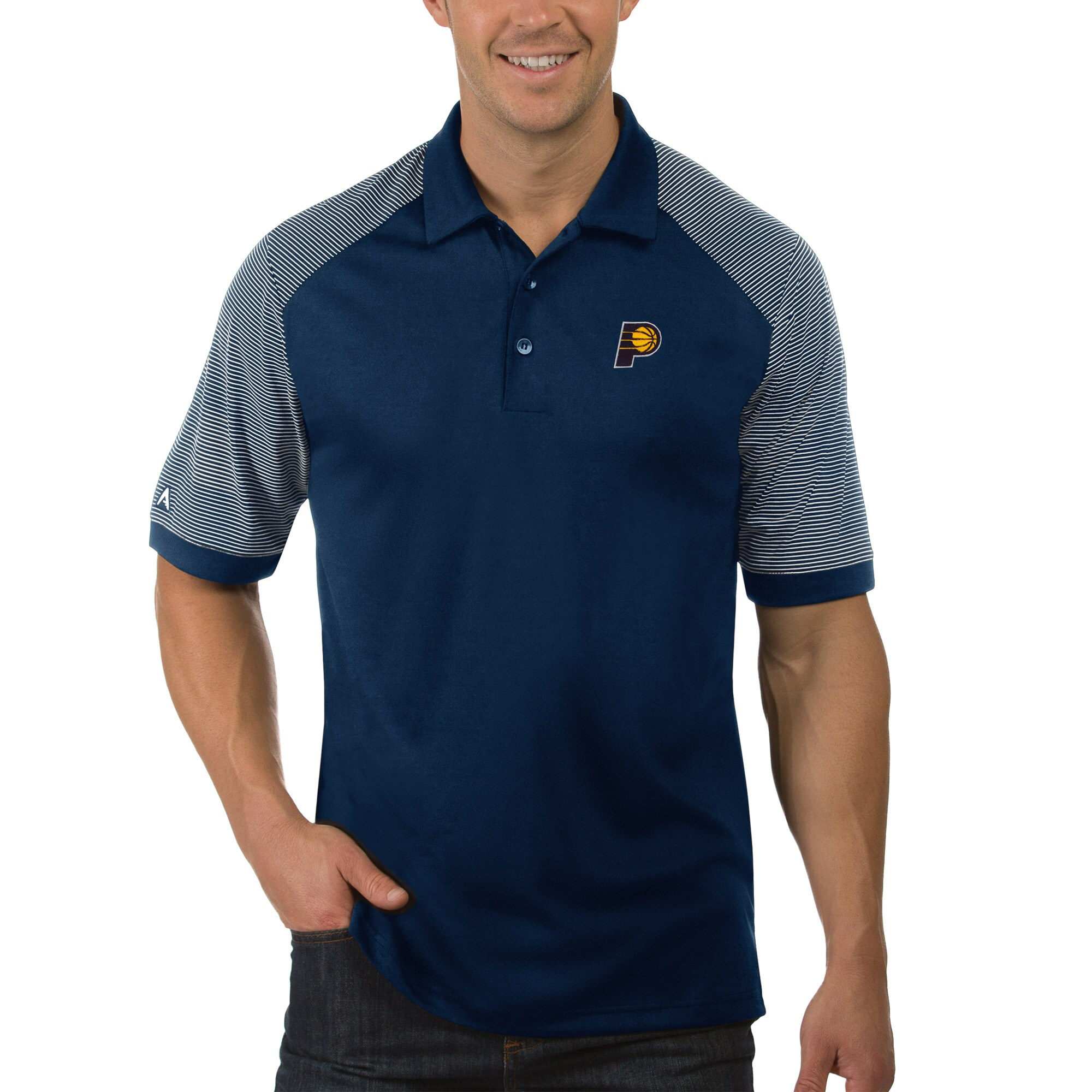 Indiana Pacers Antigua Engage Polo - Navy