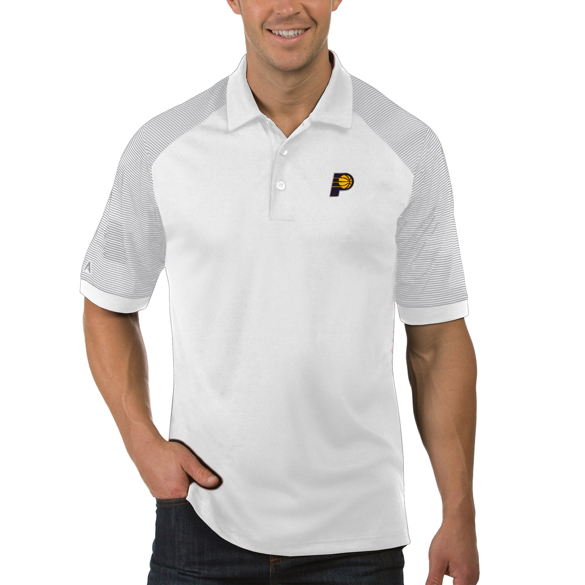 Indiana Pacers Antigua Engage Polo - White