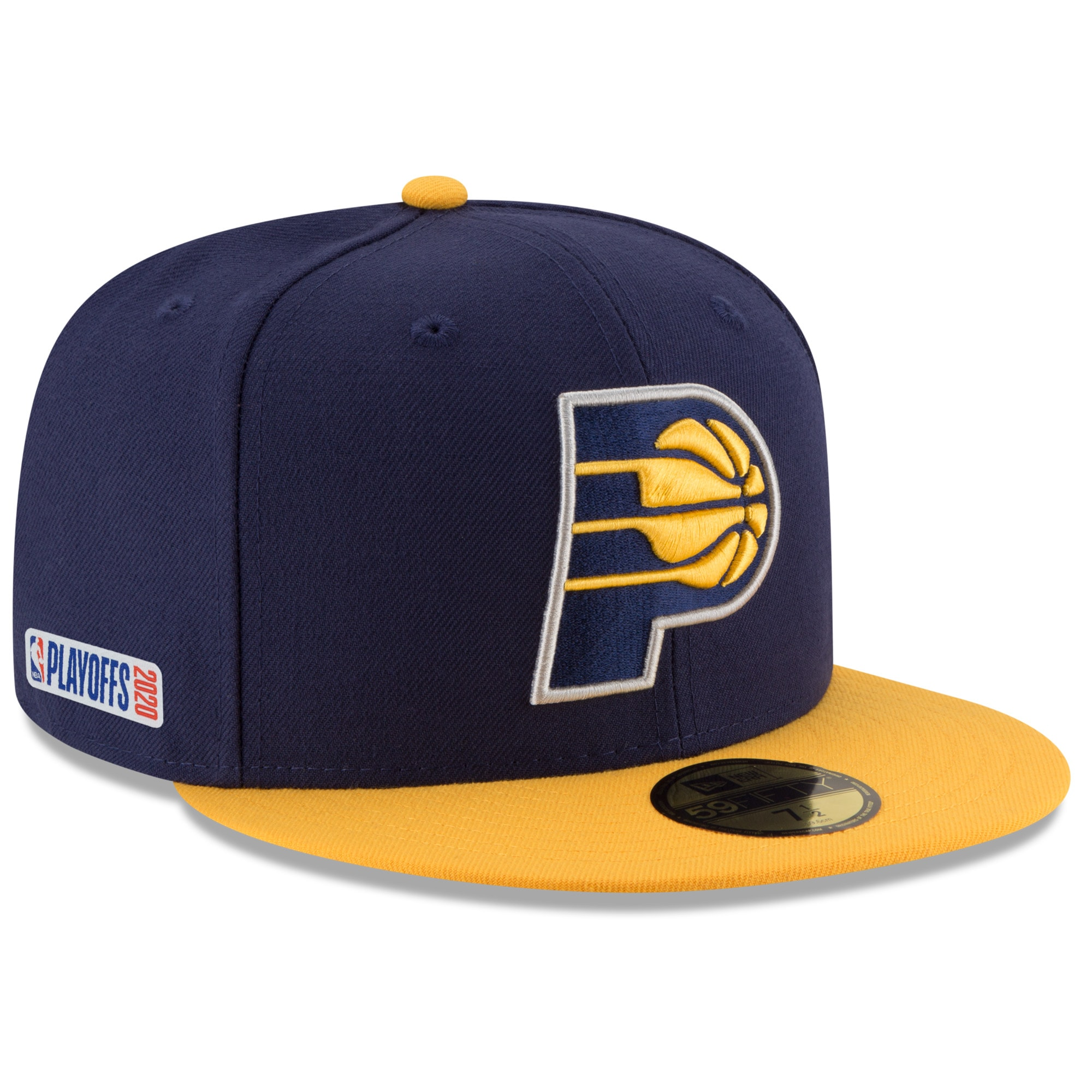 Indiana Pacers New Era 2020 NBA Playoffs Bound 2-Tone 59FIFTY Fitted Hat - Navy
