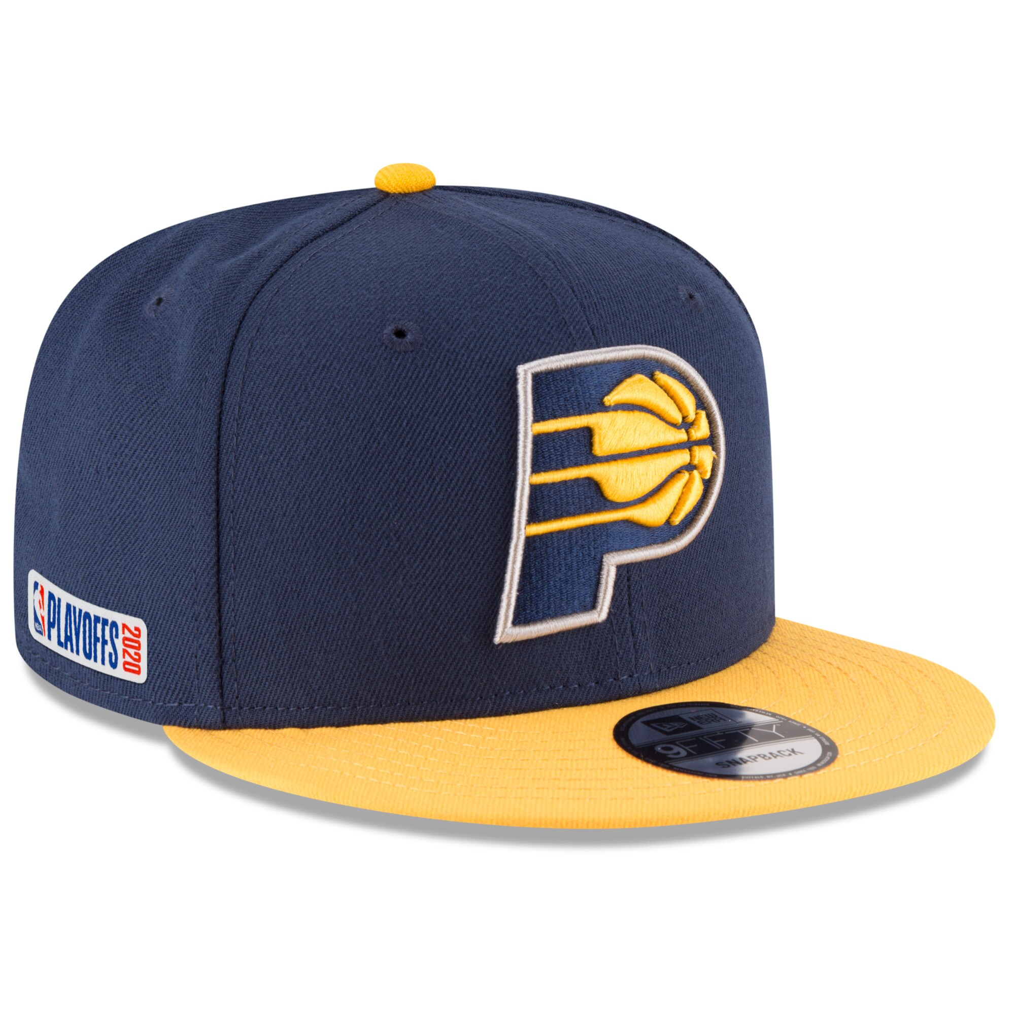 Indiana Pacers New Era 2020 NBA Playoffs Bound 2-Tone 9FIFTY Snapback Adjustable Hat - Navy