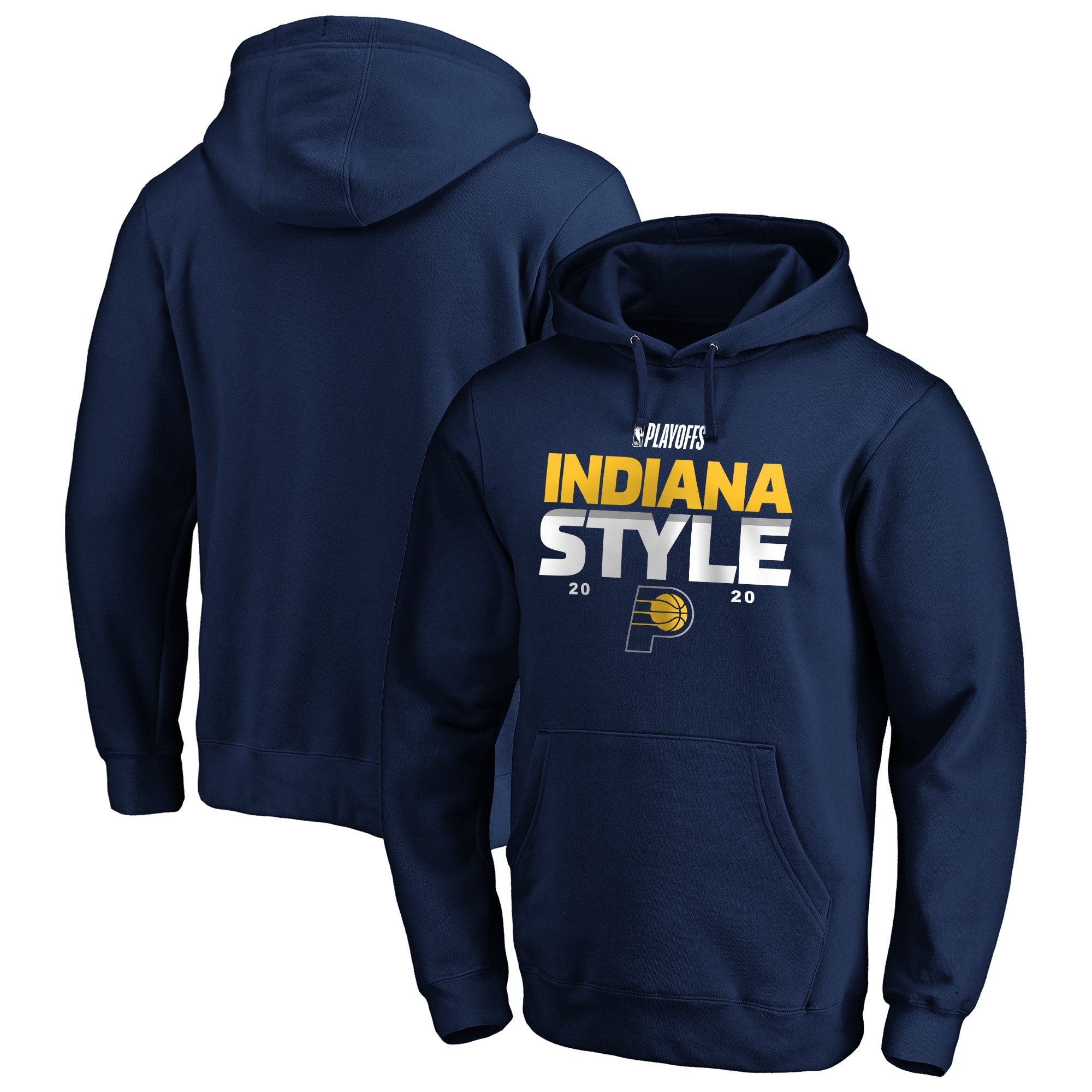 Indiana Pacers Fanatics Branded 2020 NBA Playoffs Bound Tip Off Pullover Hoodie - Navy
