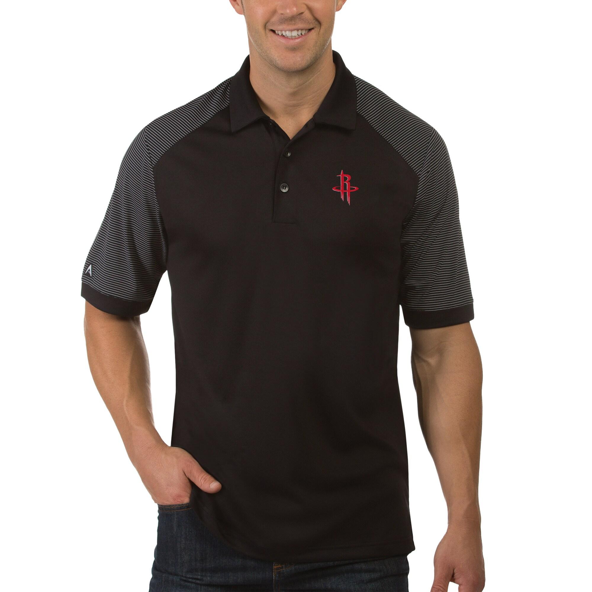 Houston Rockets Antigua Engage Polo - Black