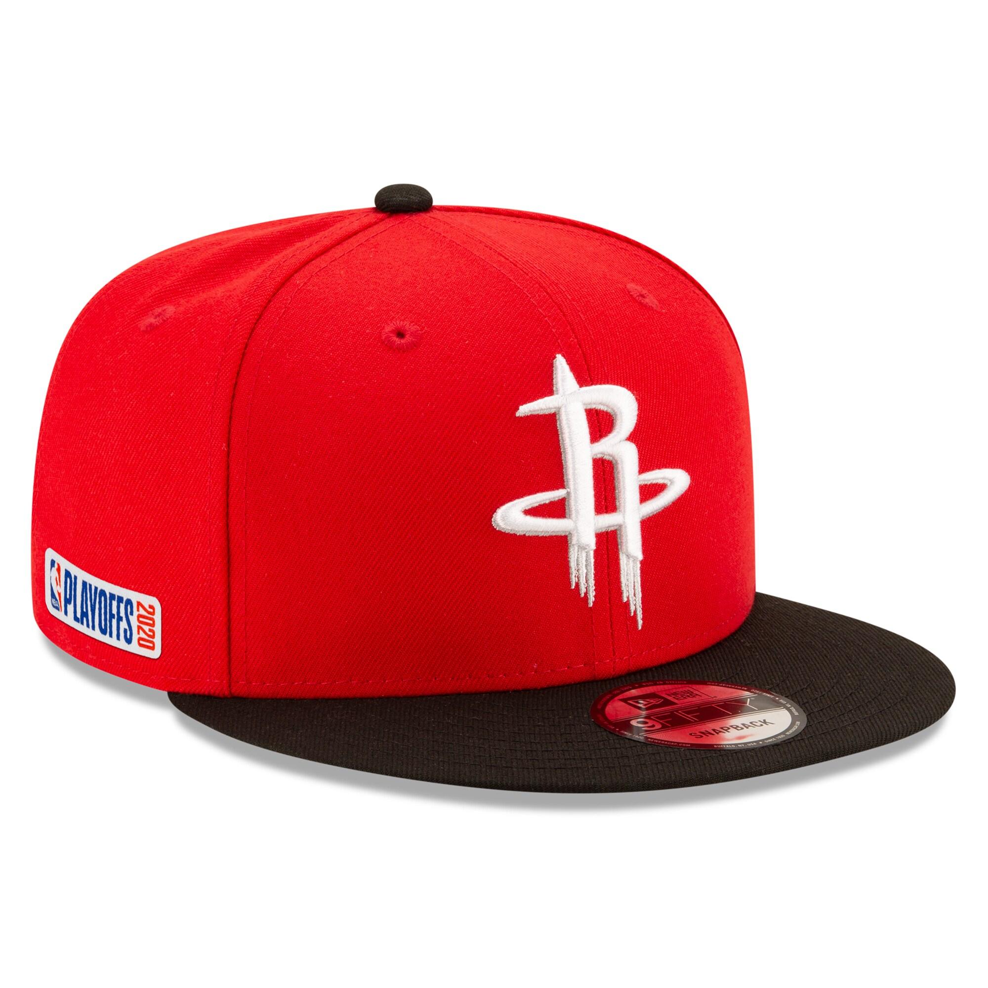 Houston Rockets New Era 2020 NBA Playoffs Bound 2-Tone 9FIFTY Snapback Adjustable Hat - Red