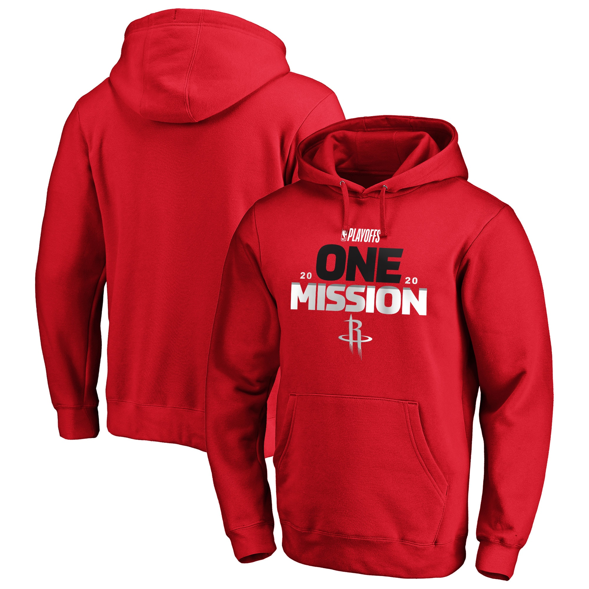 Houston Rockets Fanatics Branded 2020 NBA Playoffs Bound Tip Off Pullover Hoodie - Red