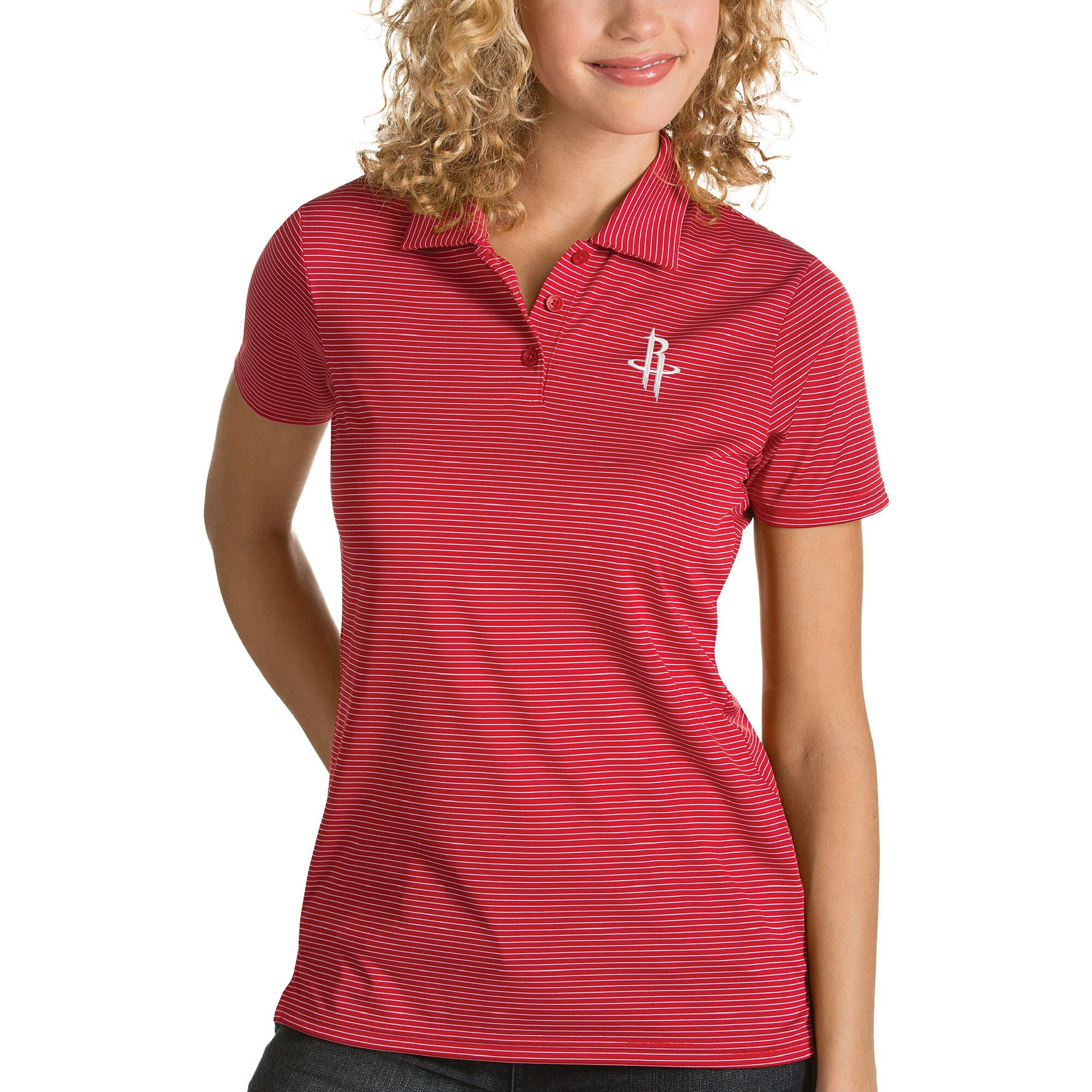 Houston Rockets Antigua Women's Quest Polo - Red