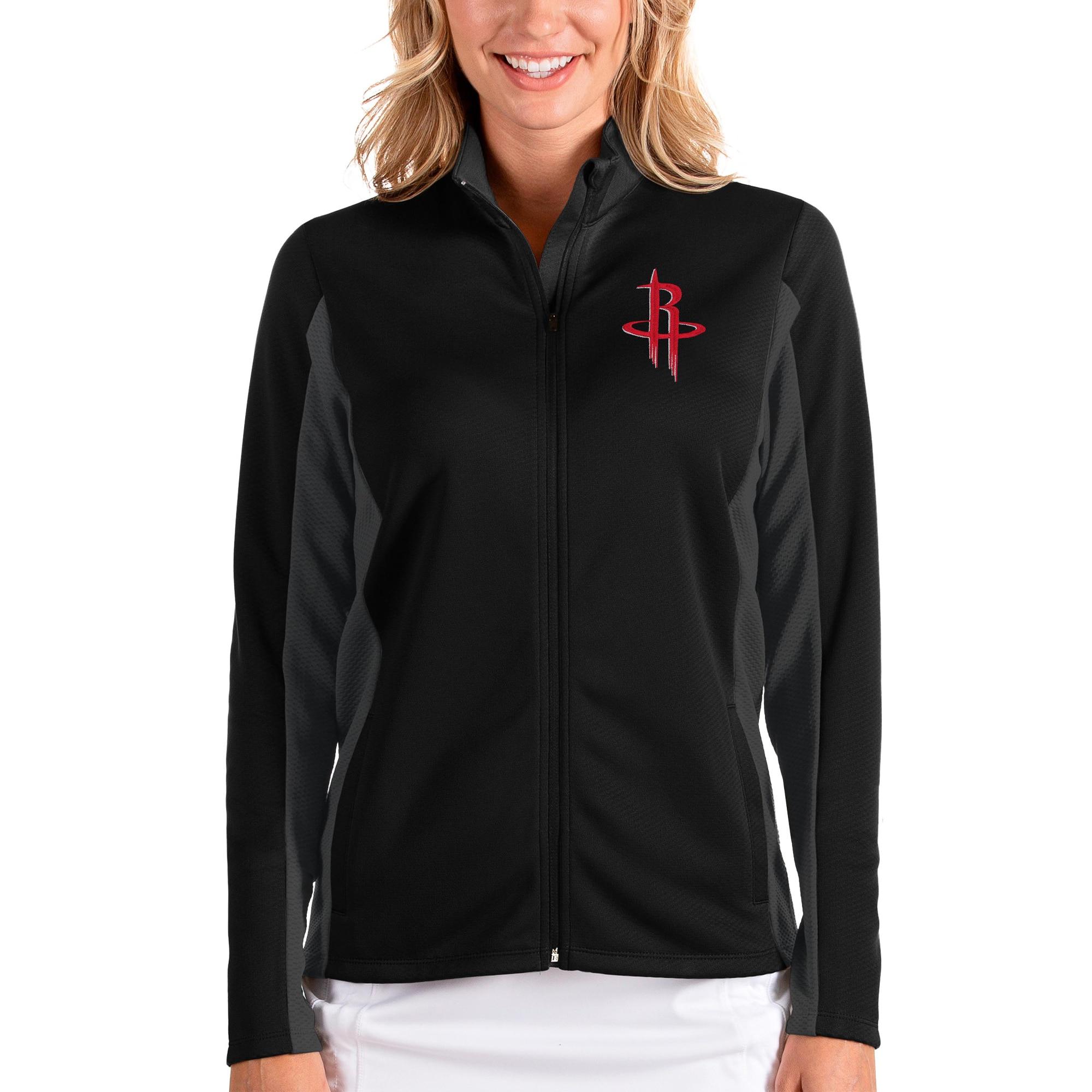 Houston Rockets Antigua Women's Passage Full-Zip Jacket - Black/Charcoal