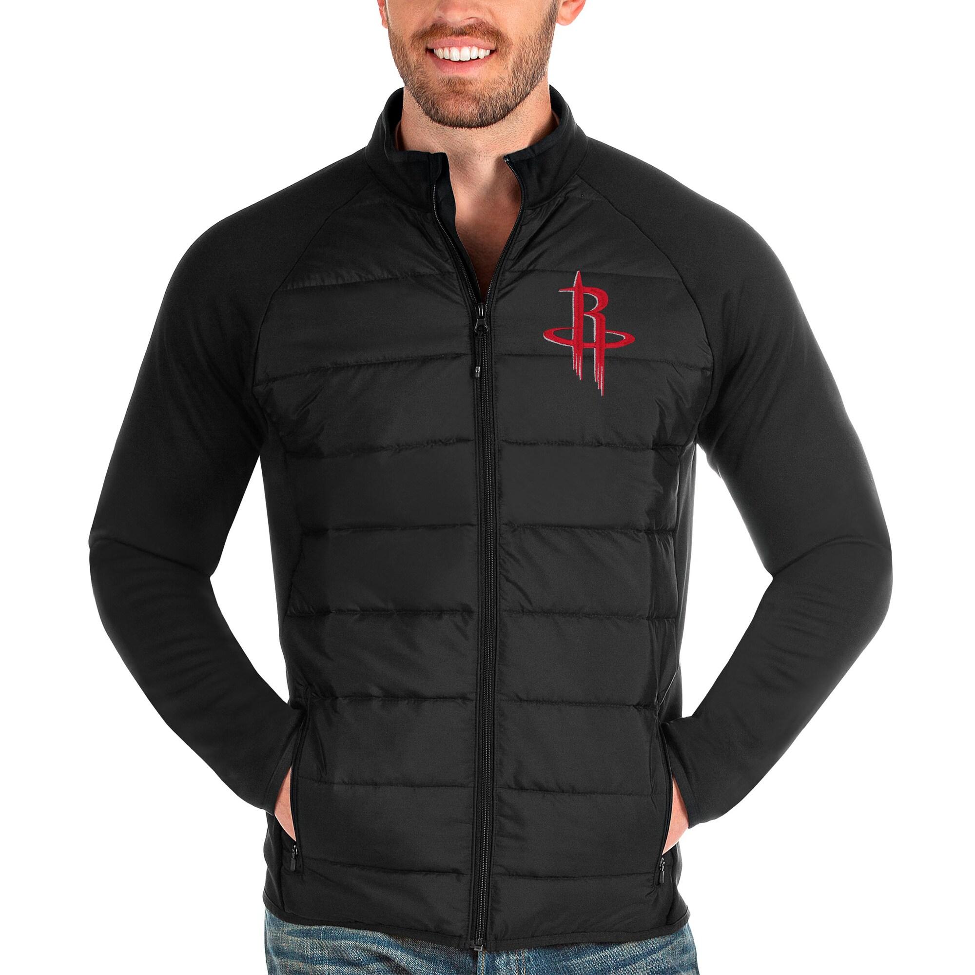 Houston Rockets Antigua Altitude Full-Zip Jacket - Black