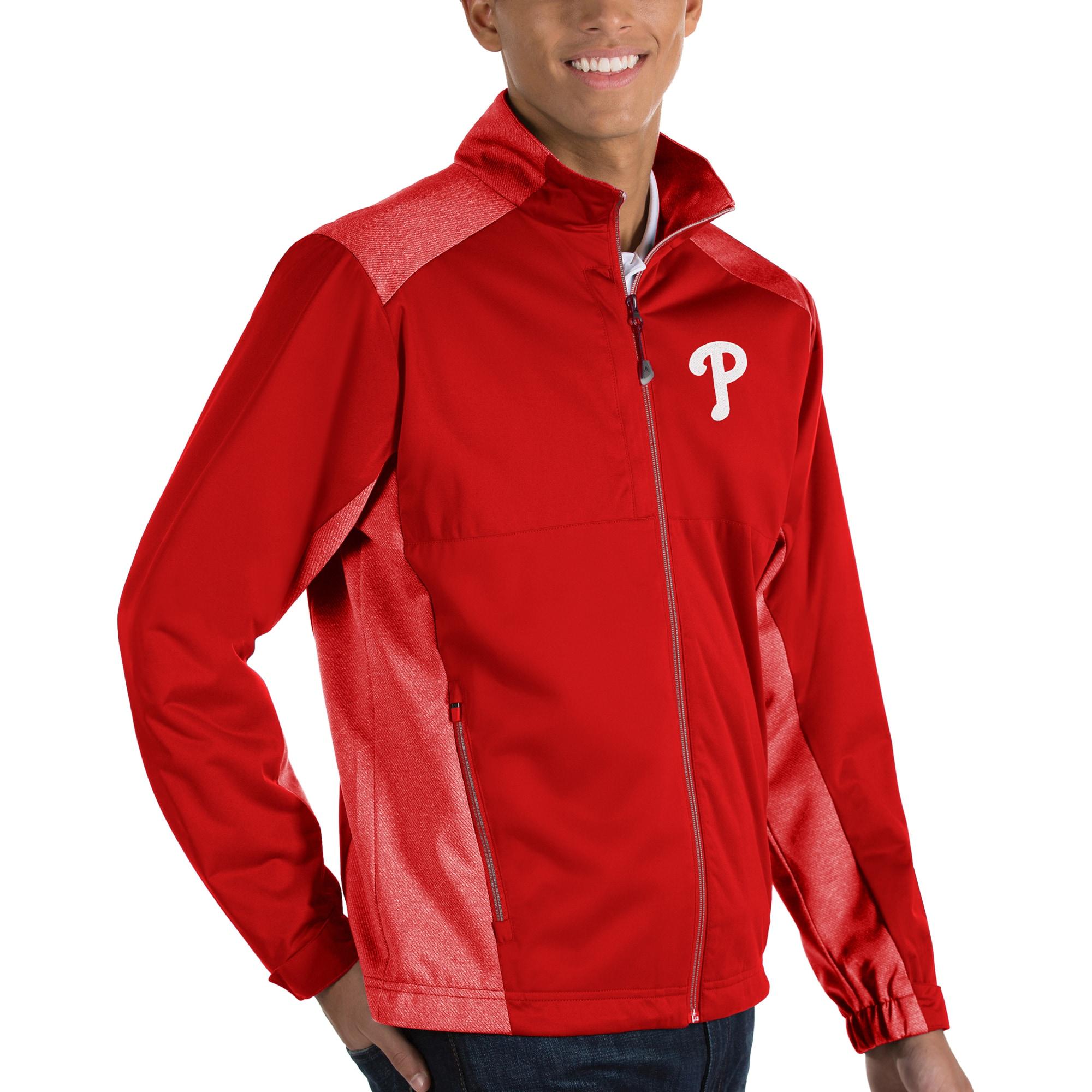 Philadelphia Phillies Antigua Revolve Full-Zip Jacket - Red