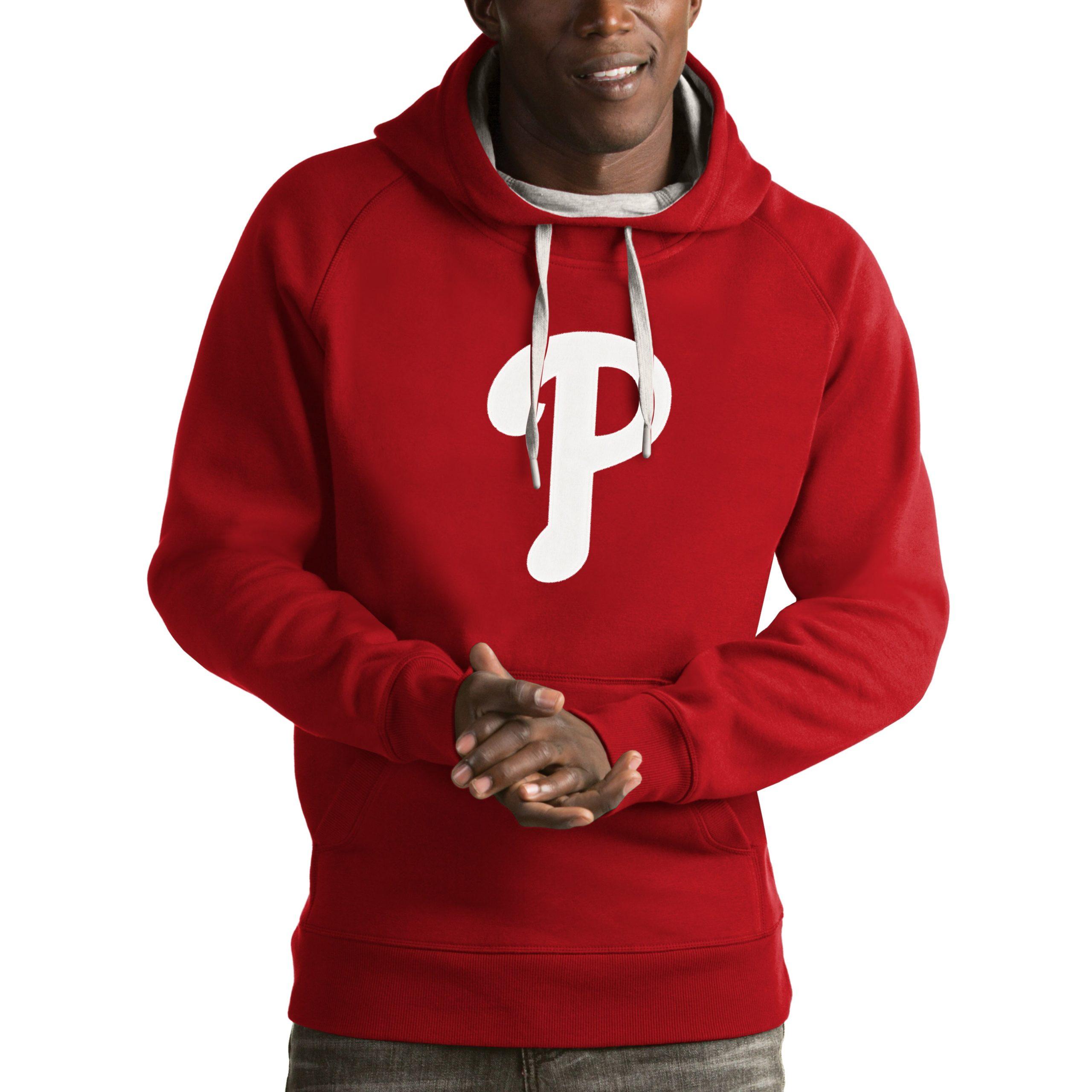 Philadelphia Phillies Antigua Victory Pullover Hoodie - Red